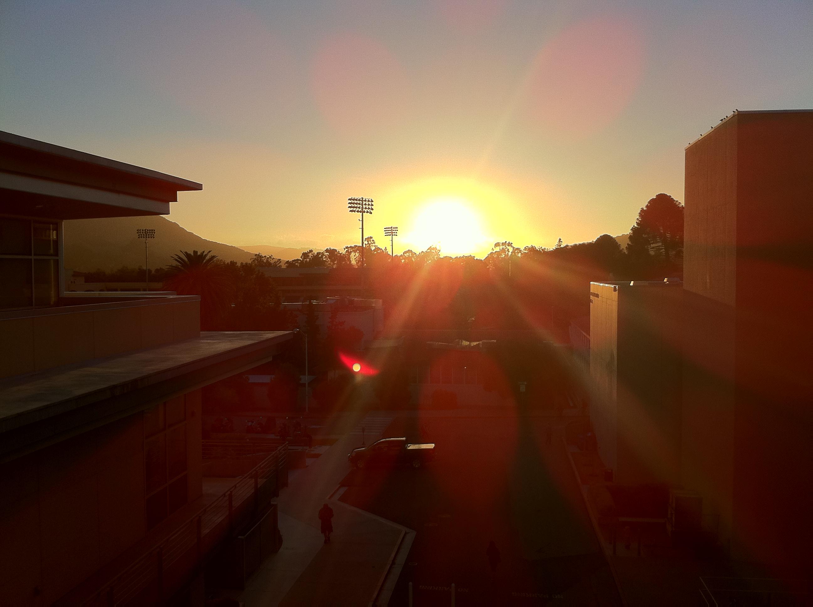 Sunset, Buildings, Dusk, Flare, Lens, HQ Photo