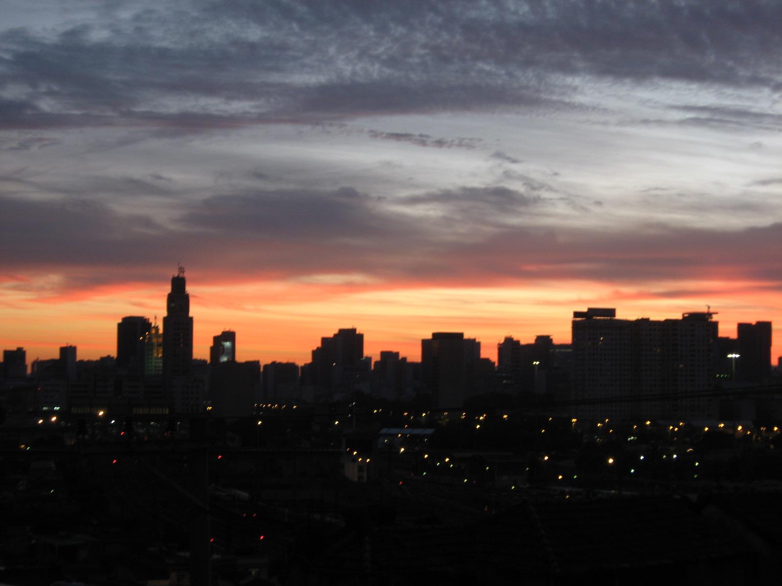 Sunset, Buildings, City, Clouds, Colors, HQ Photo