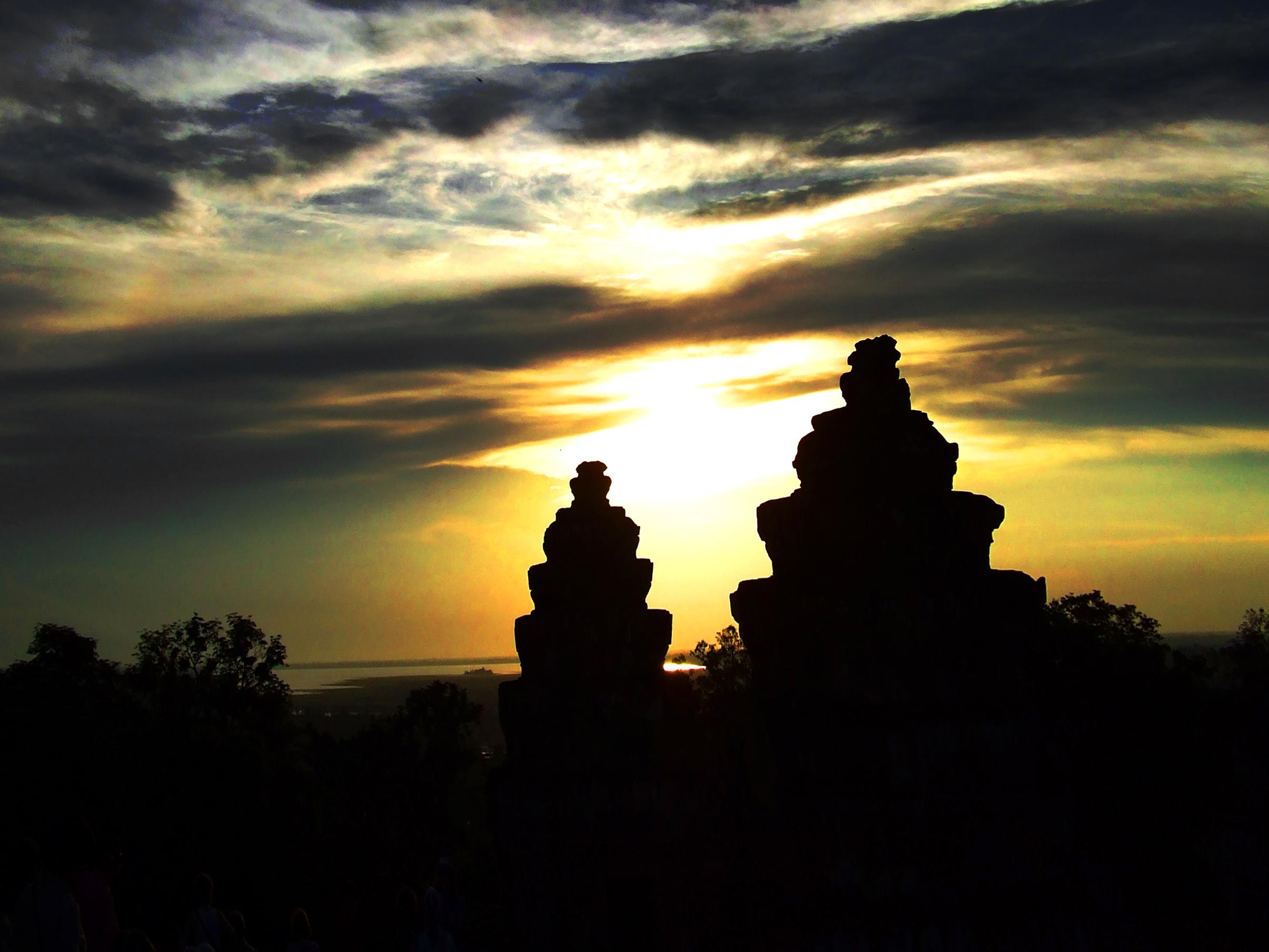 Sunset at angkor wat - cambodia photo