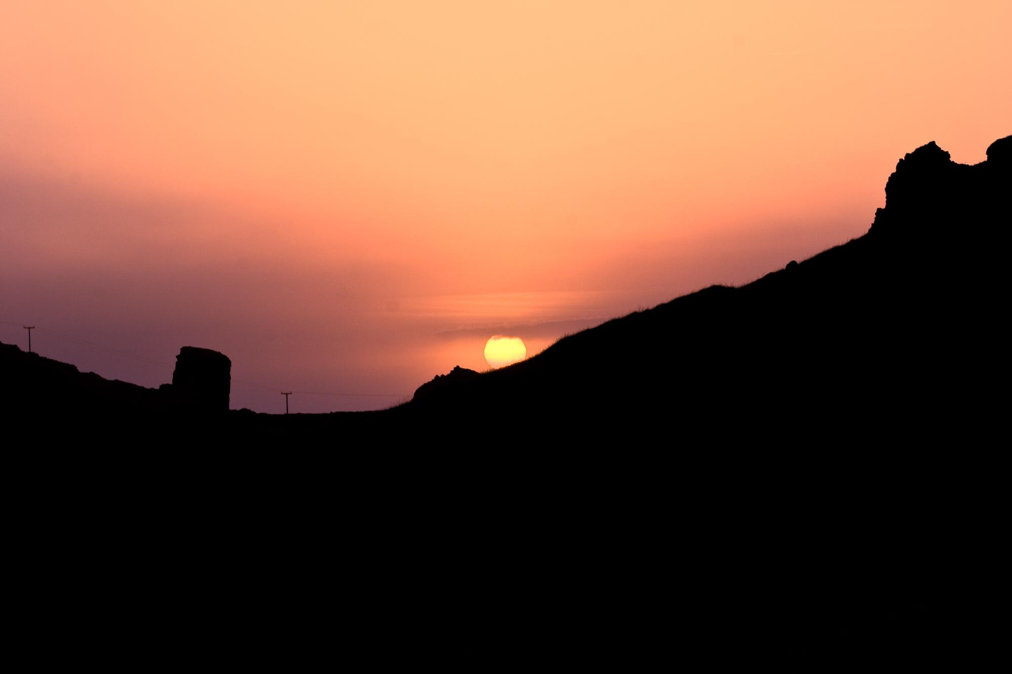 Sunset at reykjanes peninsula photo