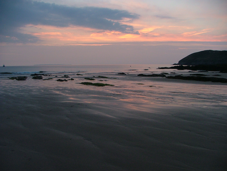 Sunset at ruda beach photo