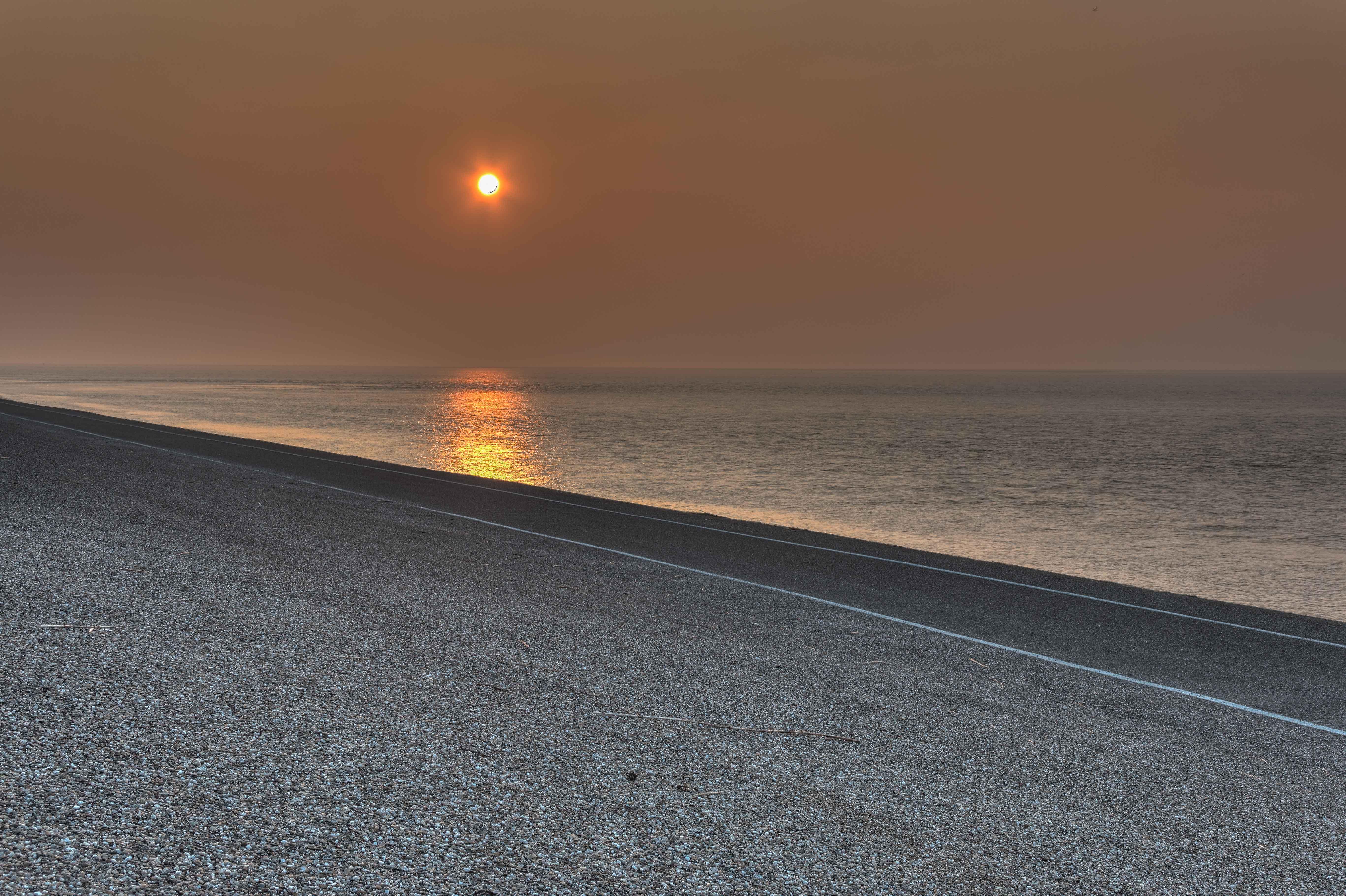 Sunset at Zeepromenade, Beach, HDR, Landscape, Nature, HQ Photo