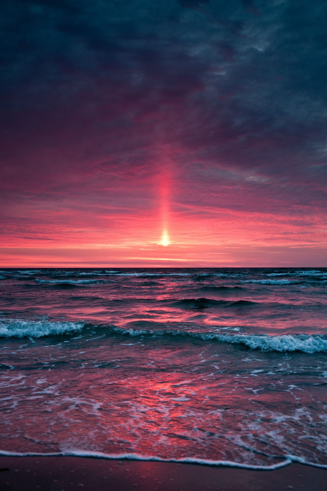 Ocean sunset photo