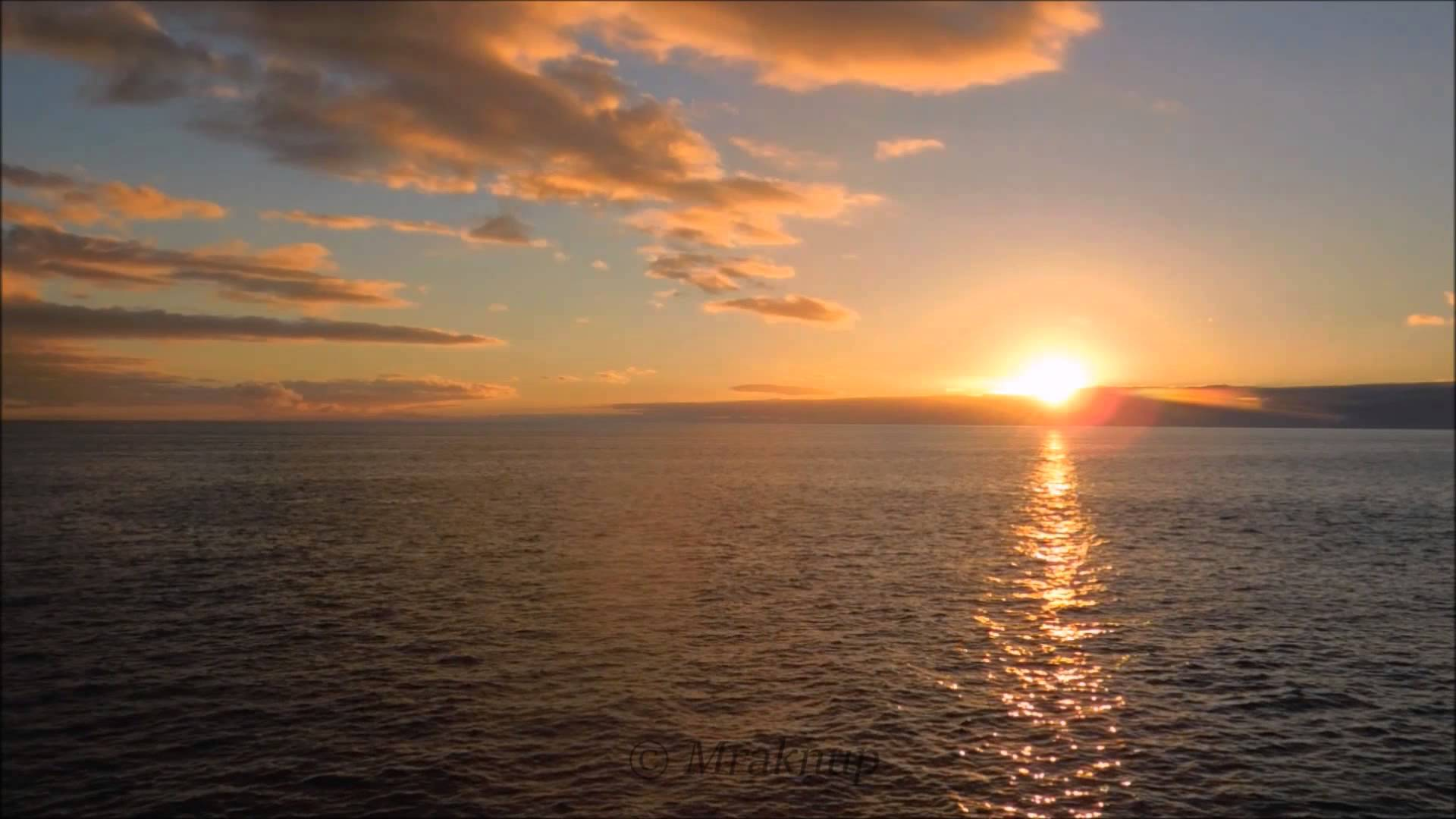 2 HOURS Most beautiful Ocean sunset [FullHD] with natural sound of ...