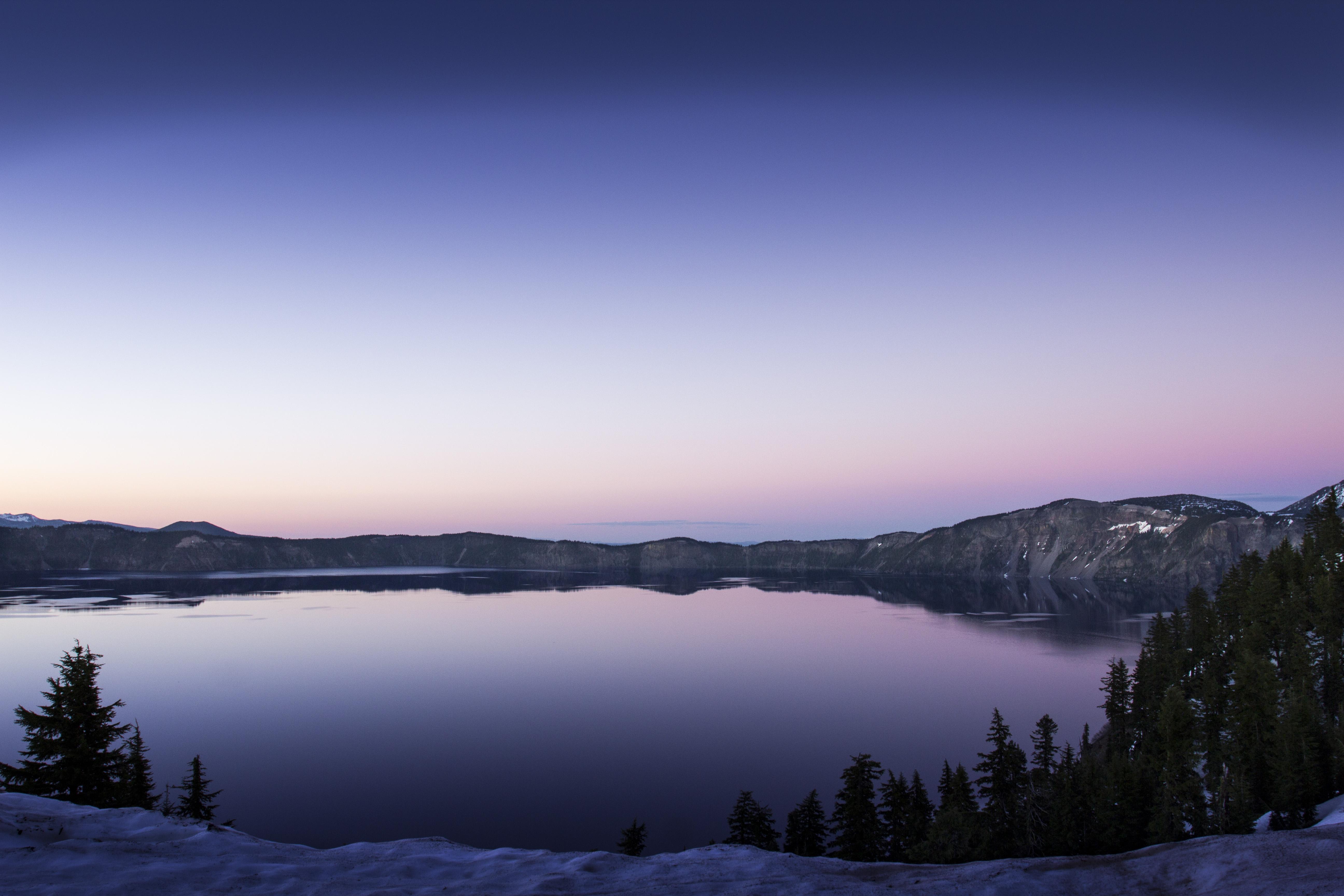 Sunset, crater lake, oregon photo