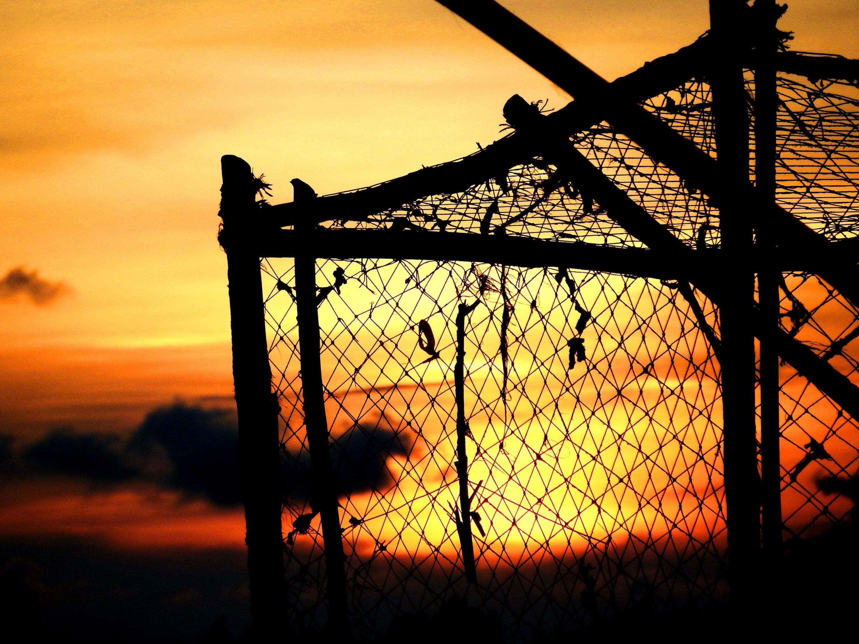 Sunset fishing pots / nets photo