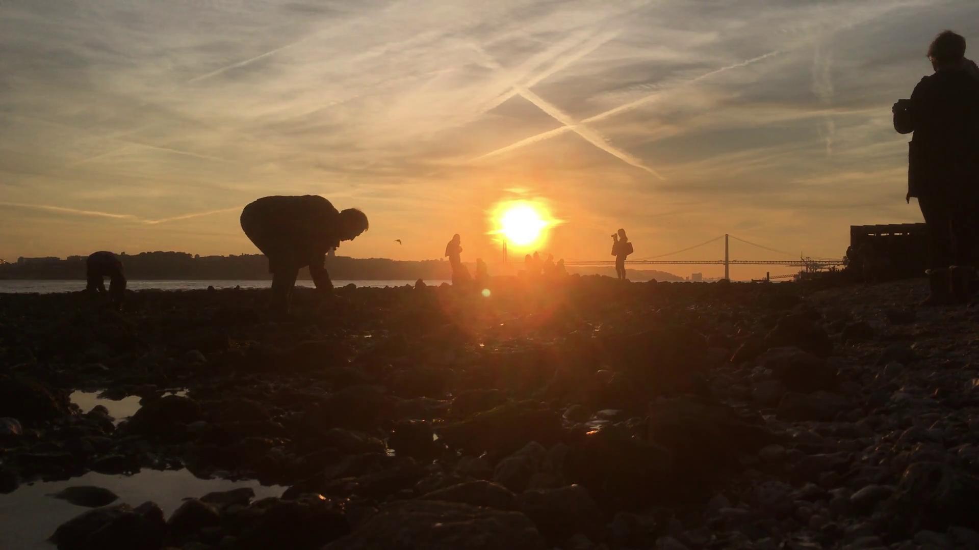 Sunset fun photo