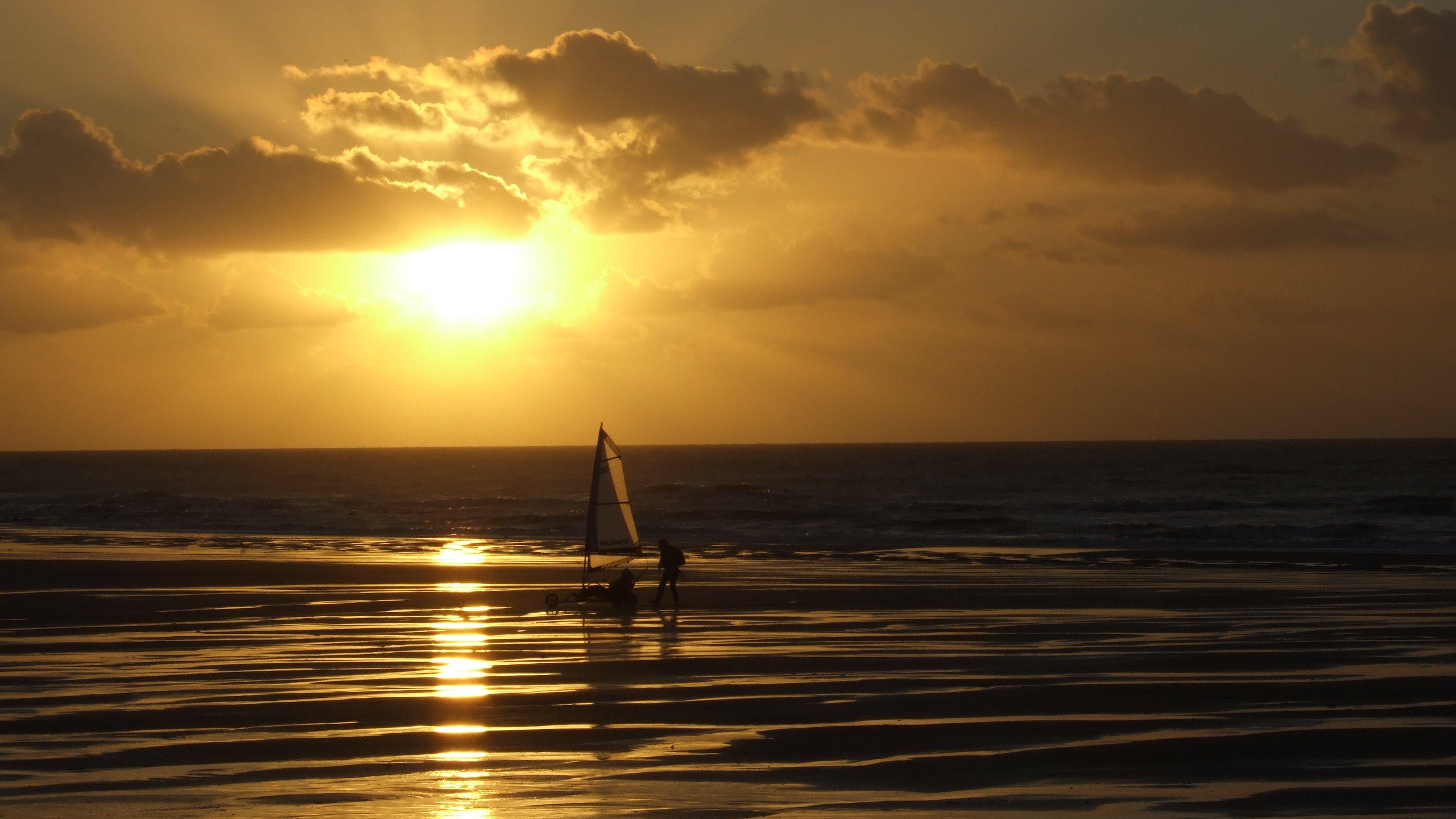 Sunset in belgium photo
