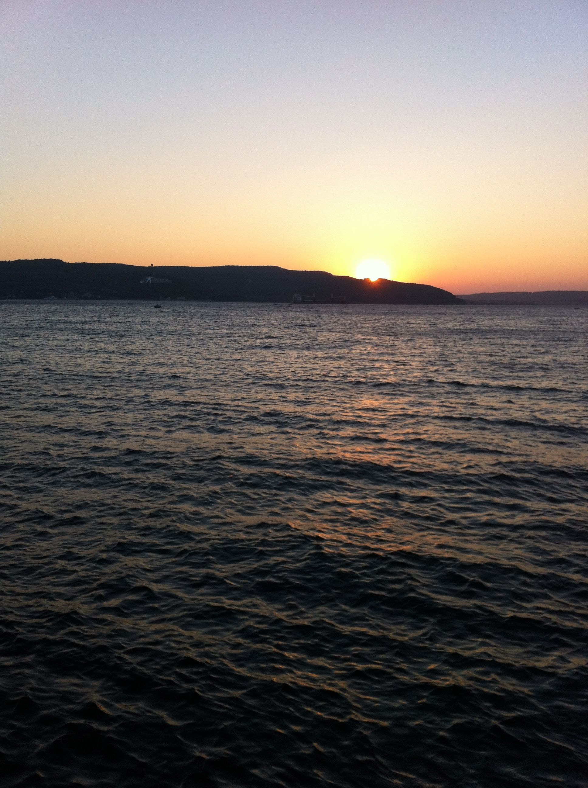 Sunset in canakkale photo