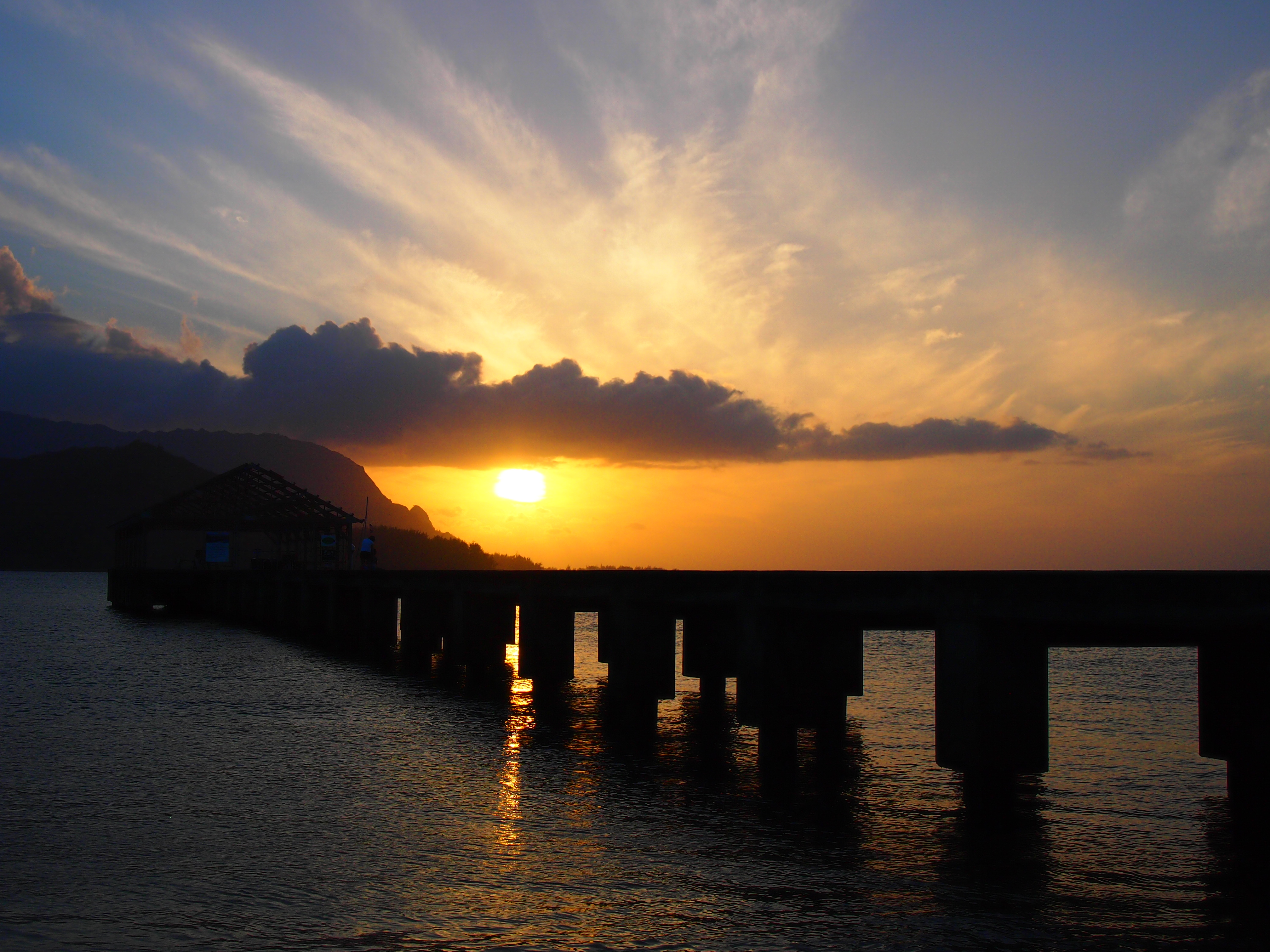 Sunset in kauai hawaii photo