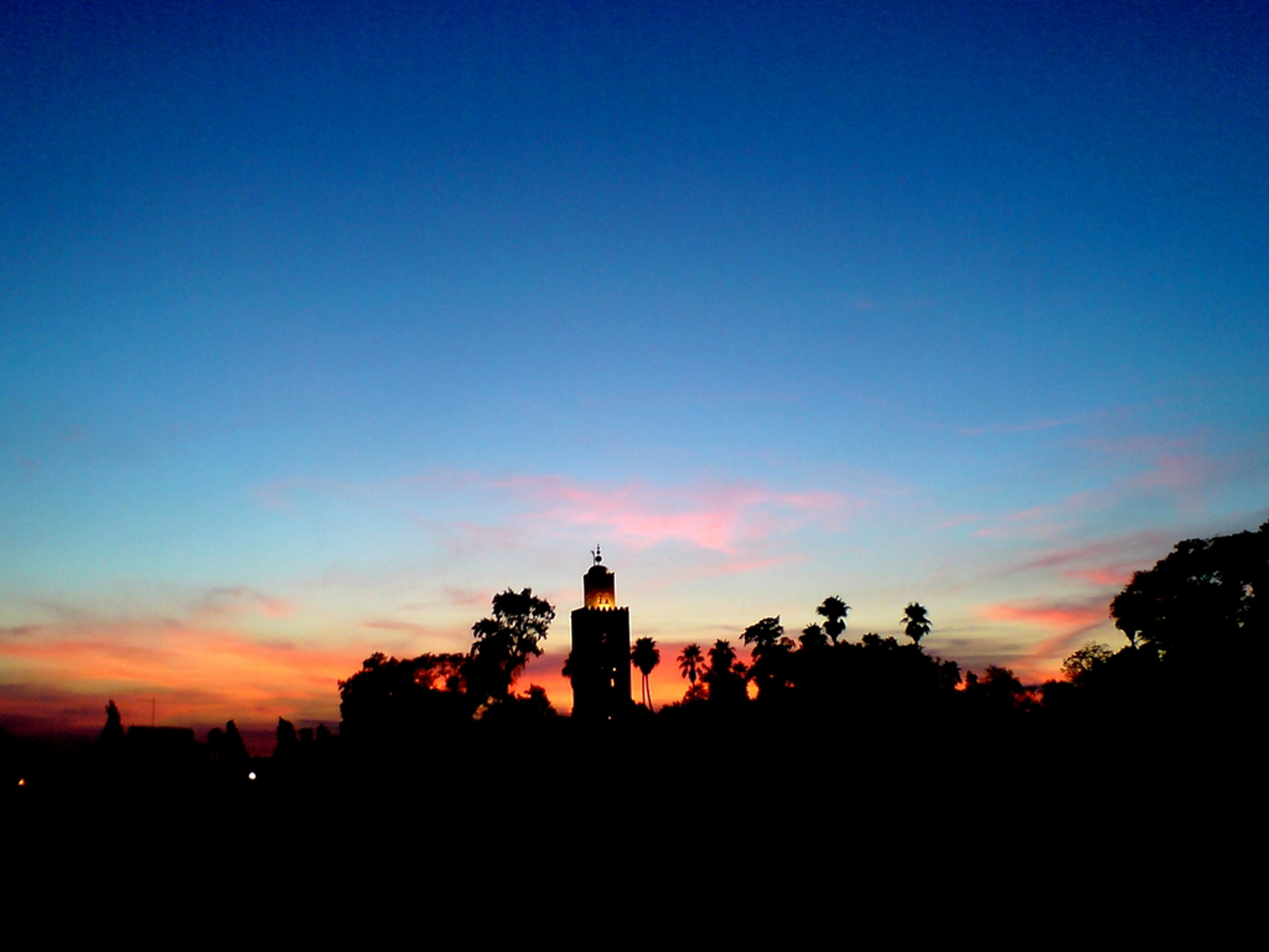 Sunset in marrakech photo