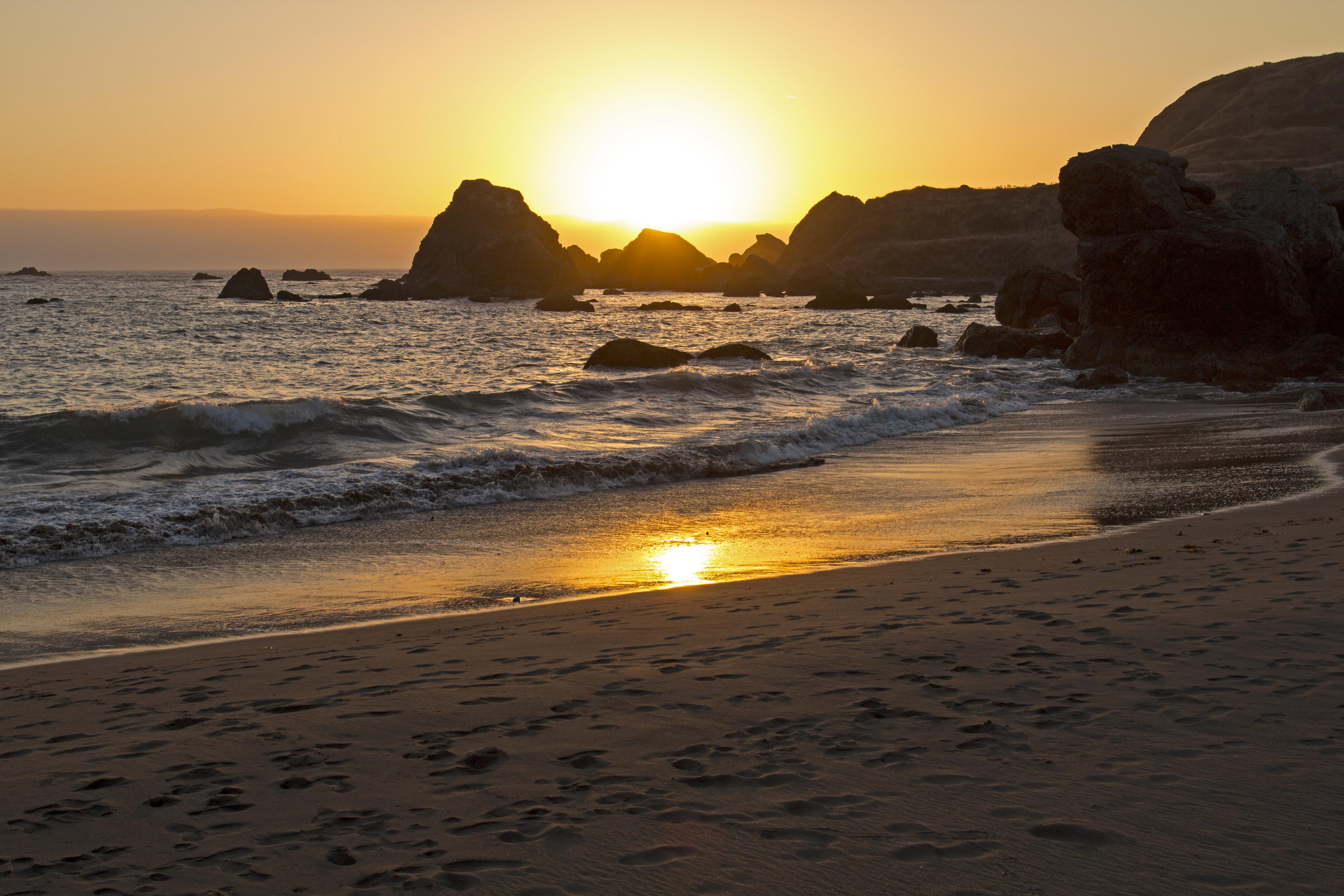 Sunset, lone ranch beach, oregon photo