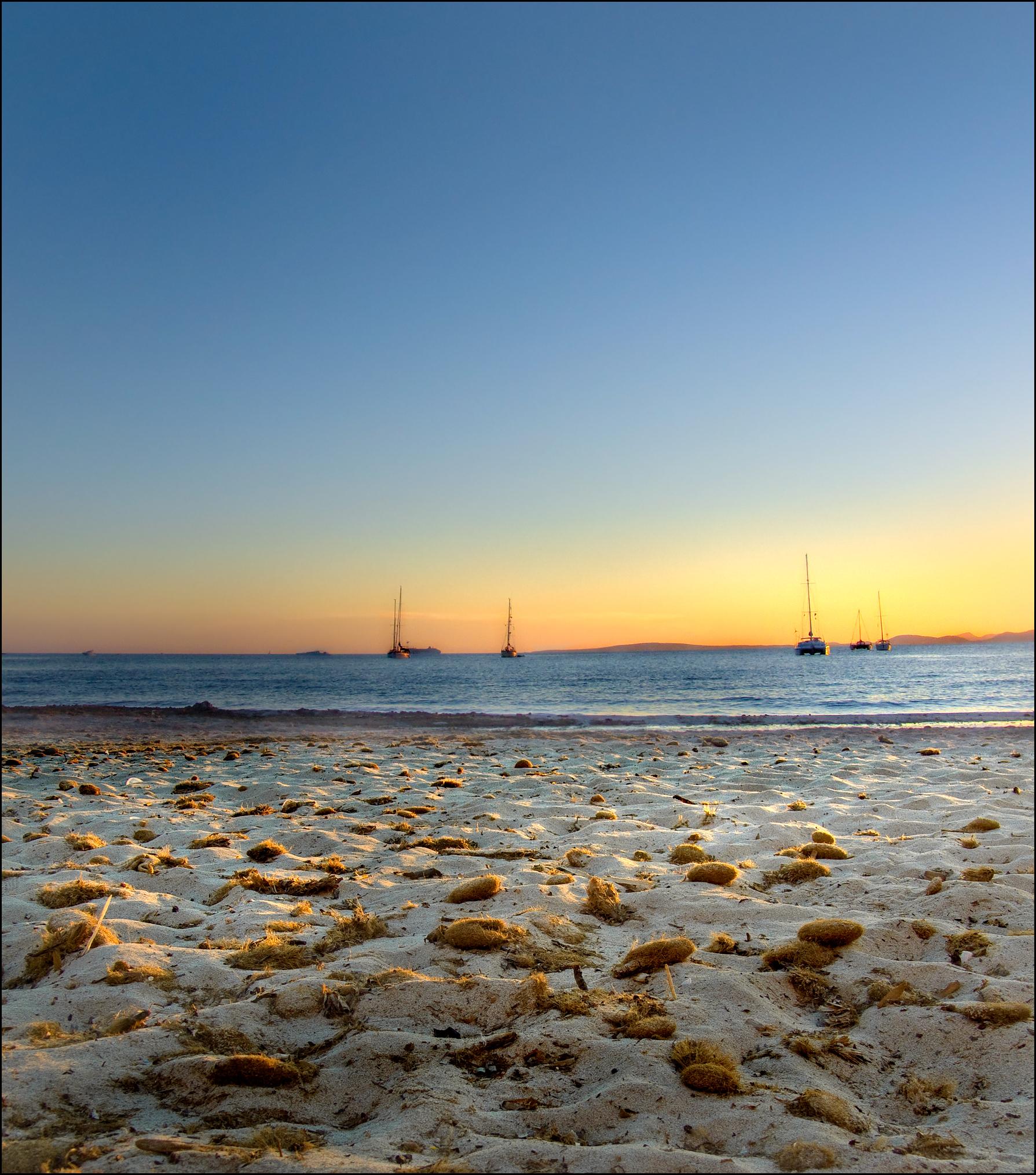 Sunset mallorca beach photo
