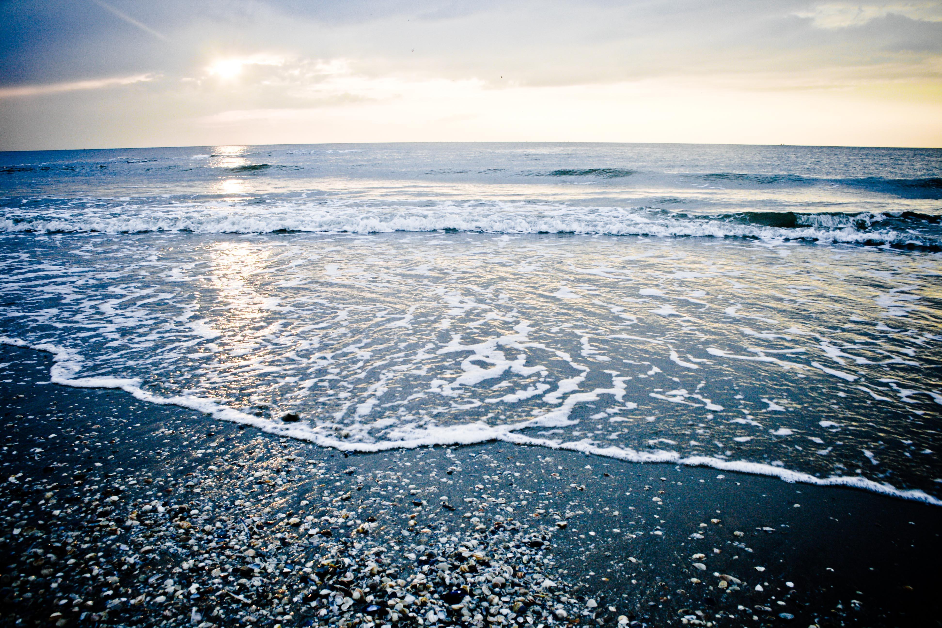 Sunset ocean photo