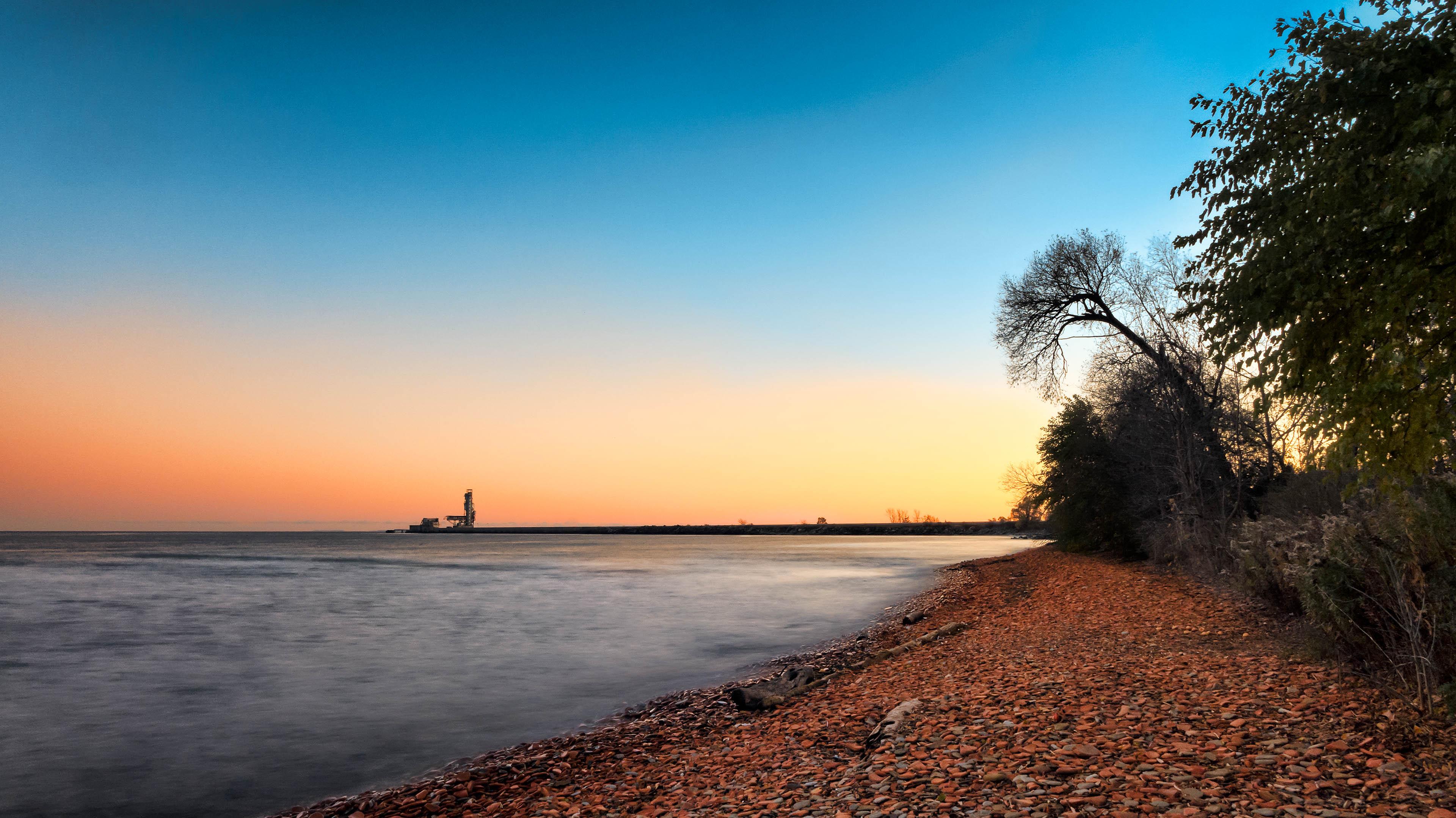 Sunset on Lake Ontario, Beach, Ontario, Sky, Shore, HQ Photo