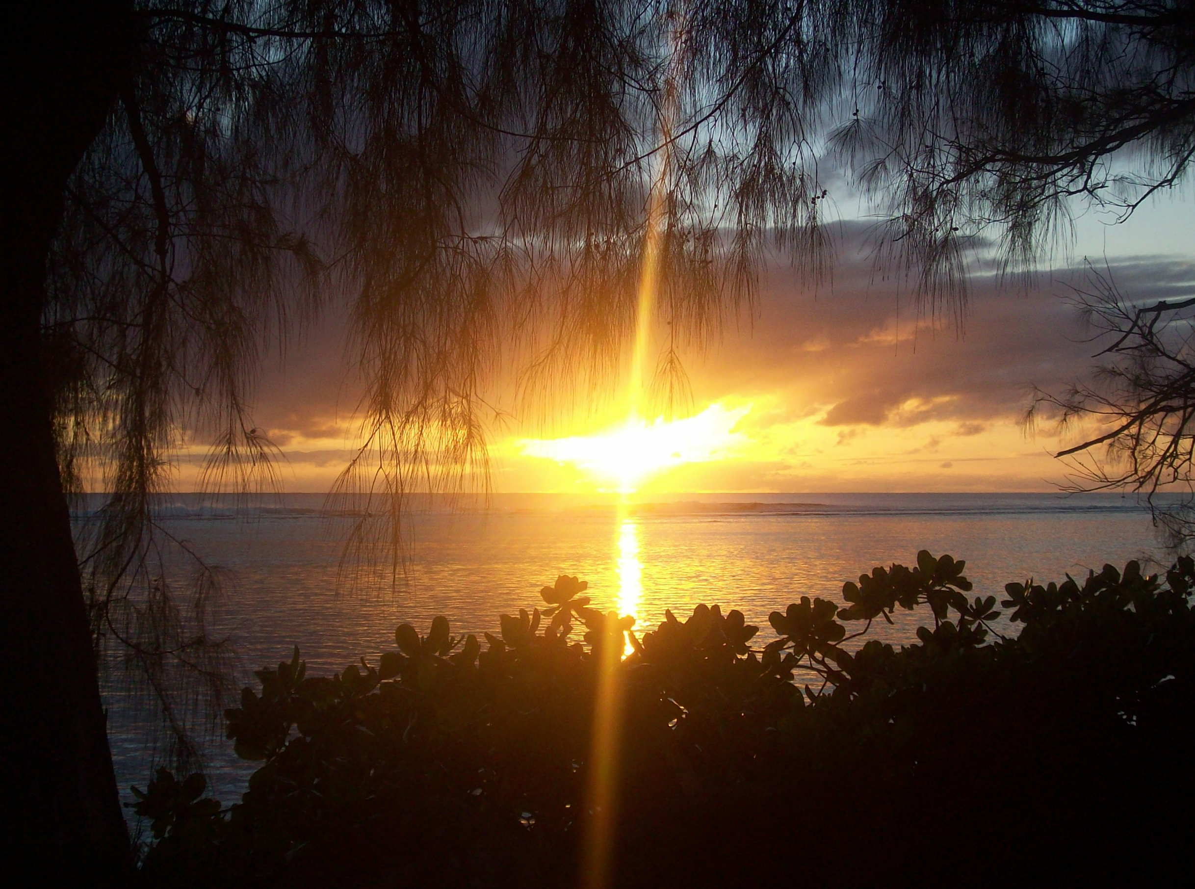 Sunset on Rarotonga, Pacific, Raro, Rarotonga, Scenery, HQ Photo