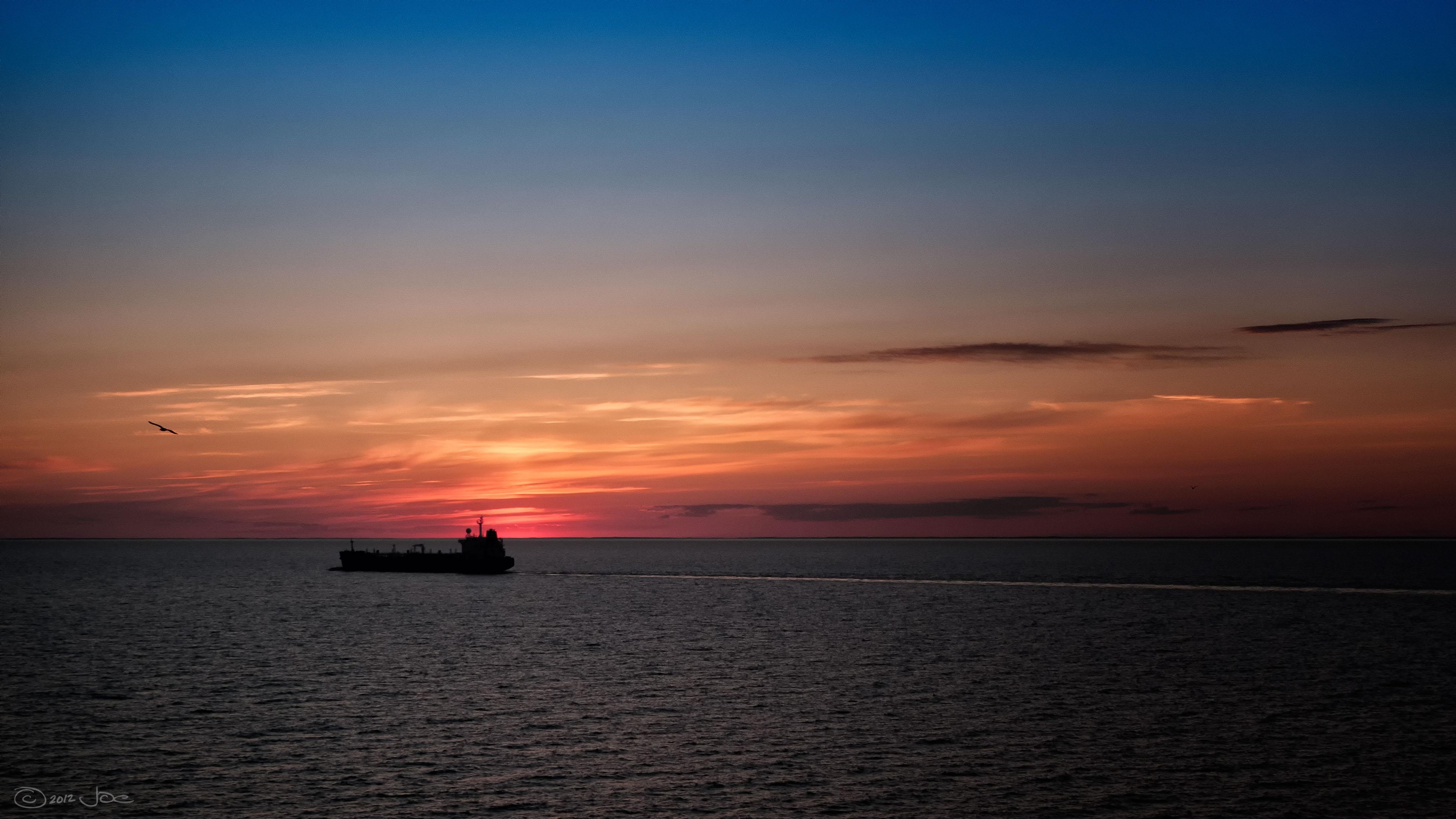 Sunset on the Baltic Sea, Baltic, Cloud, Costa, Dusk, HQ Photo