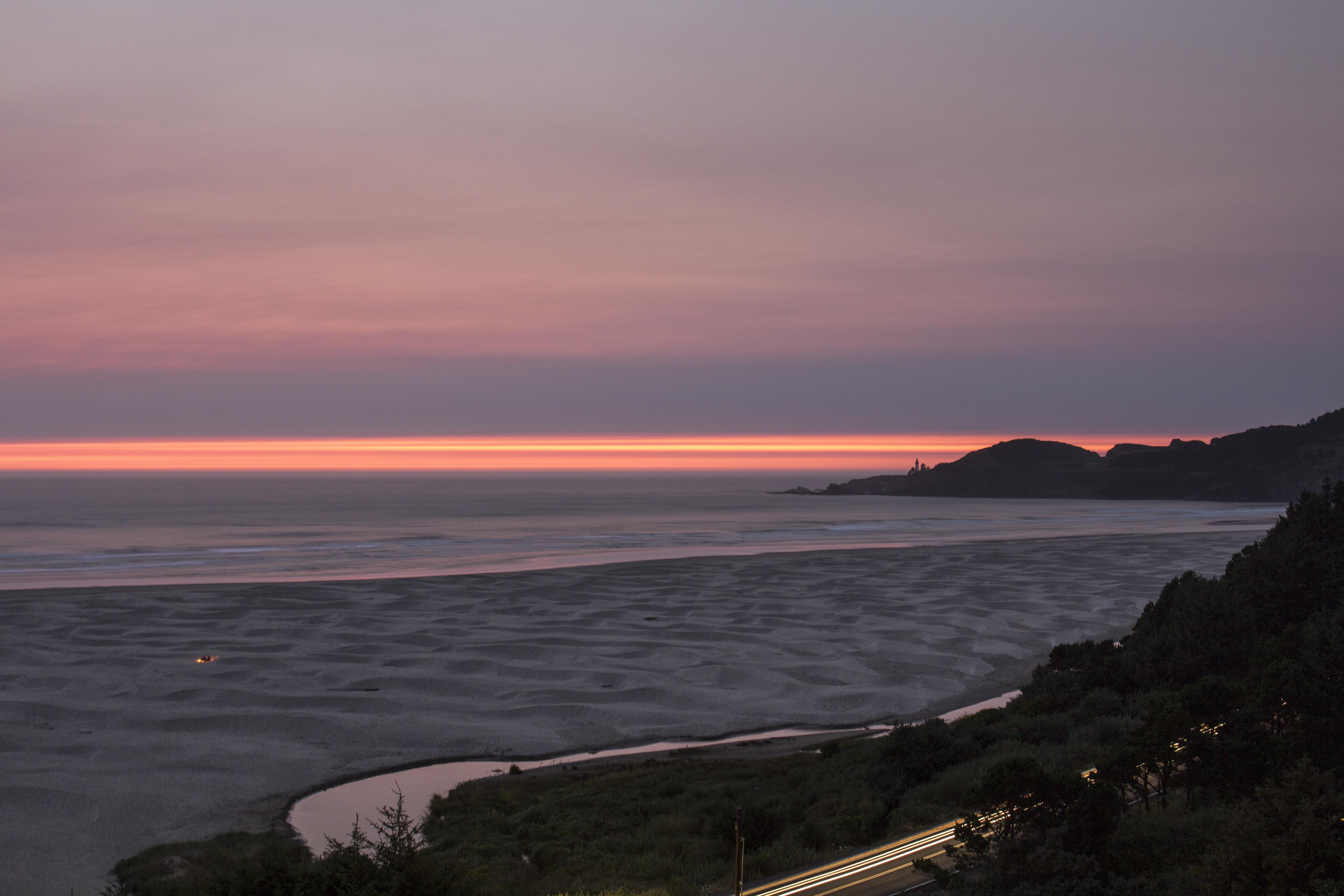 Sunset on the coast, oregon photo