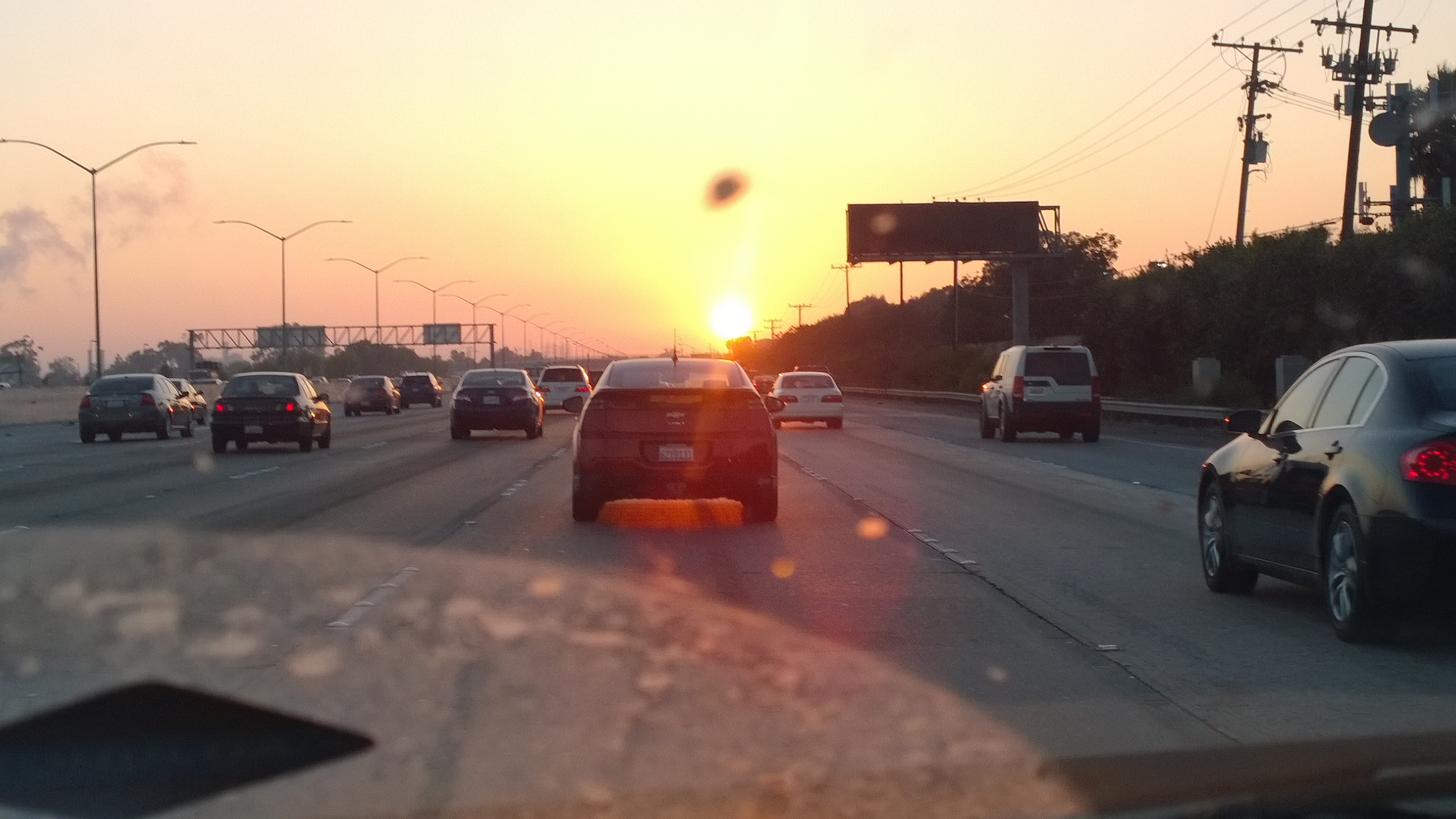 Sunset on the freeway photo