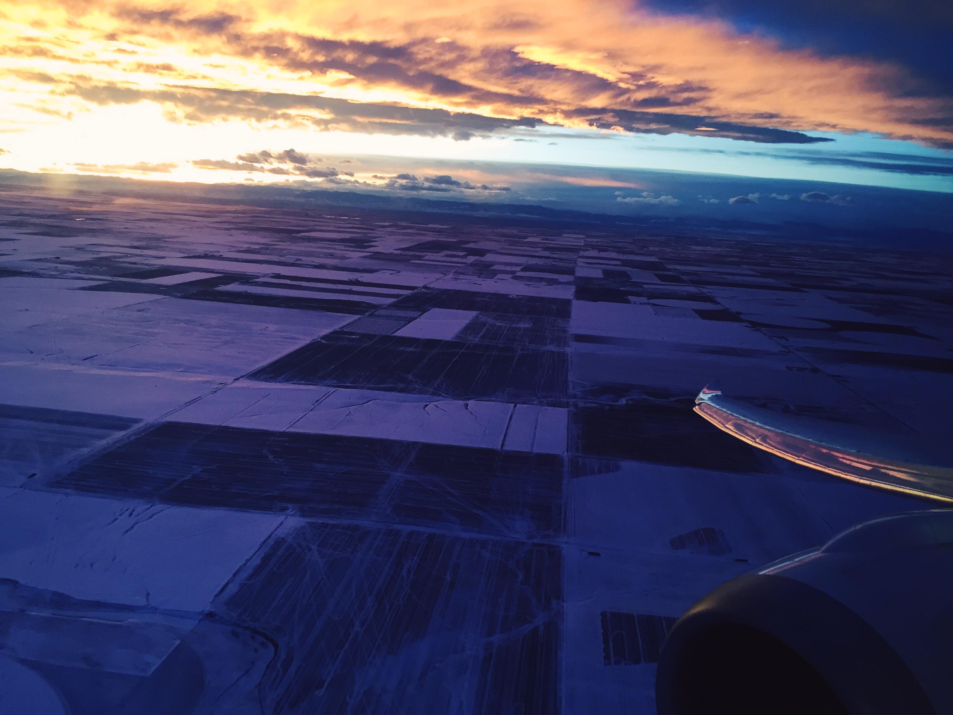 Sunset Over Fields, Blue, Fields, Journey, Landscape, HQ Photo
