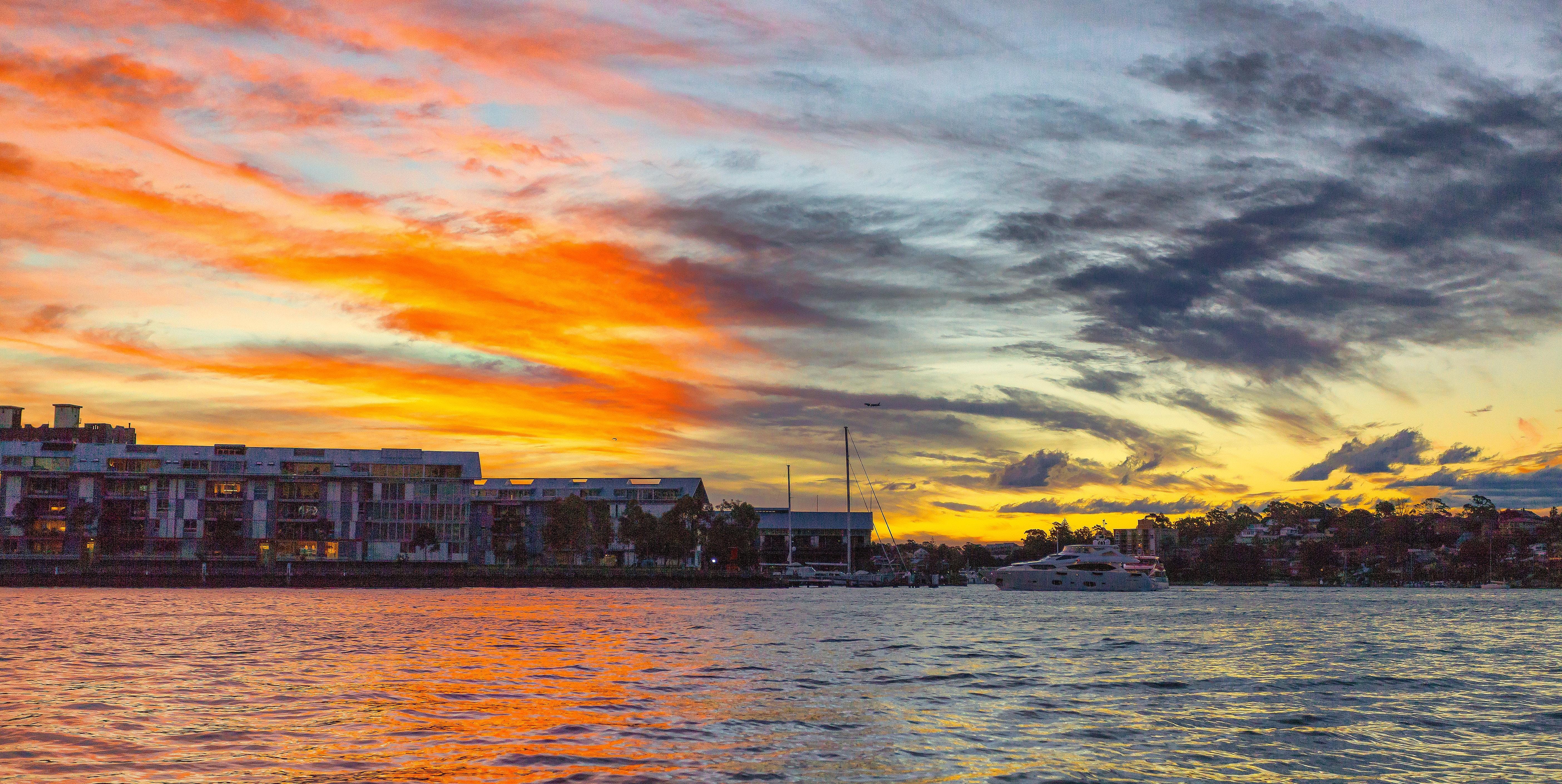 Sunset Photography, Architecture, Reflection, Watercraft, Water, HQ Photo