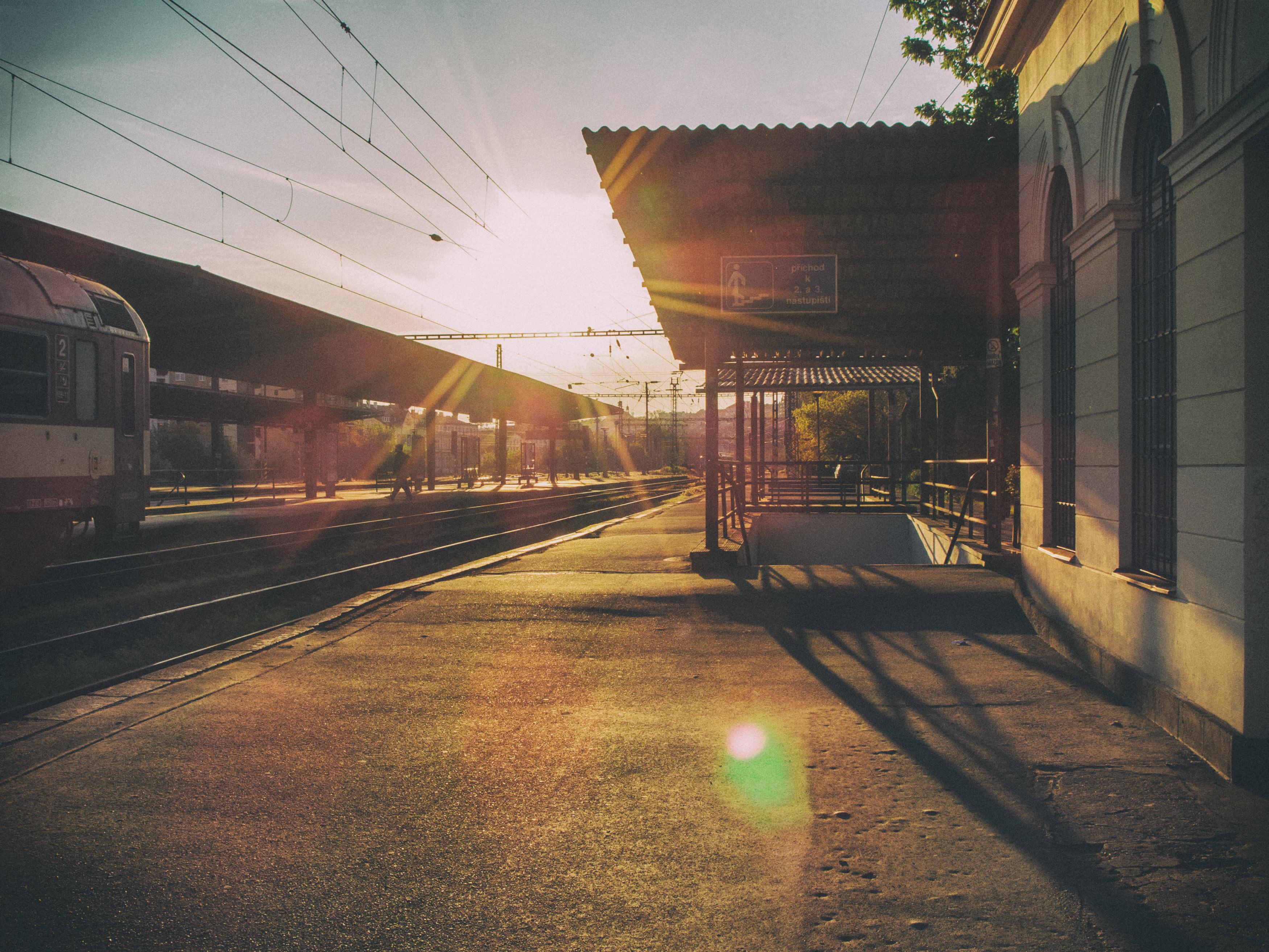 Sunset railway photo