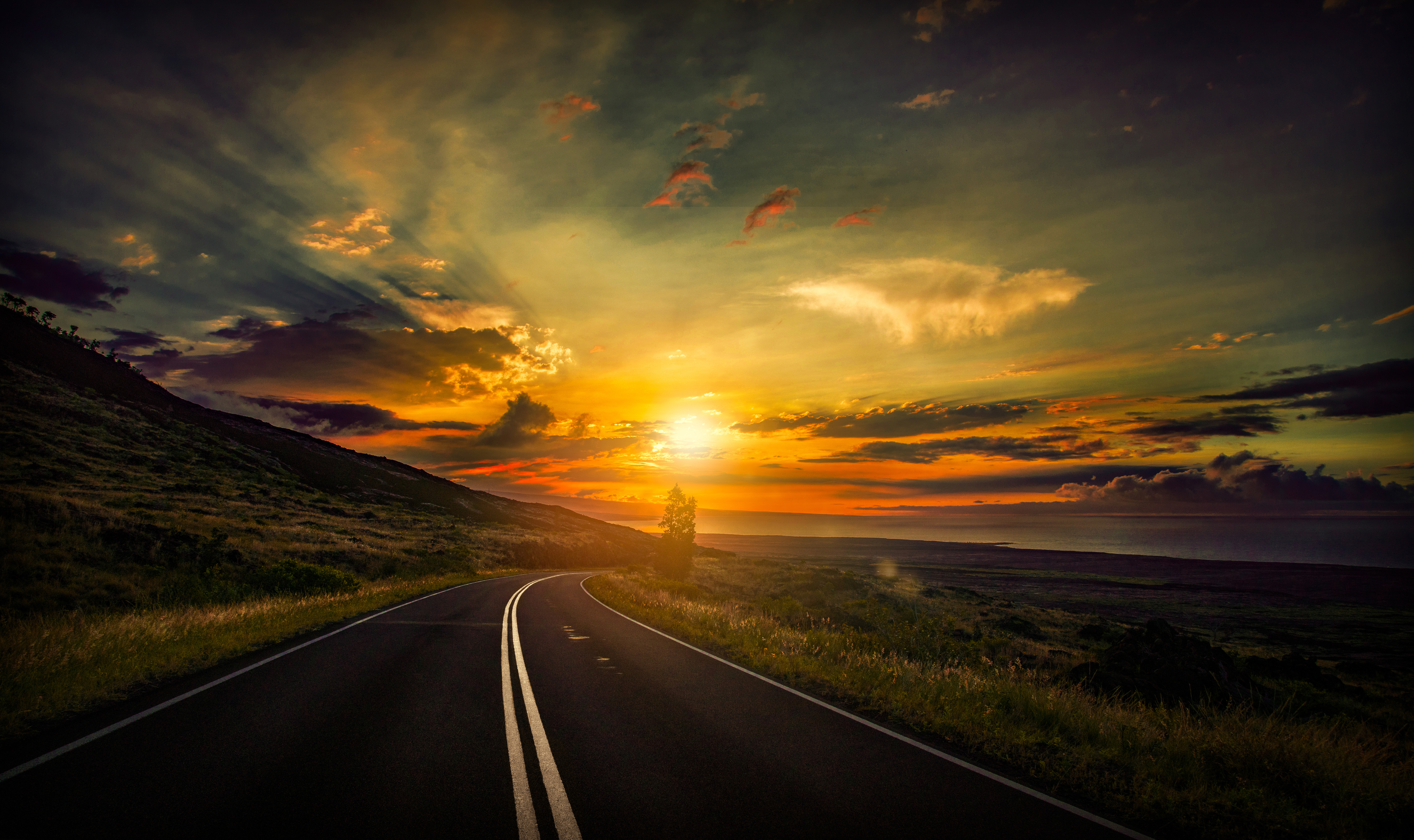Cool Sunset Road View 8k, HD Nature, 4k Wallpapers, Images ...