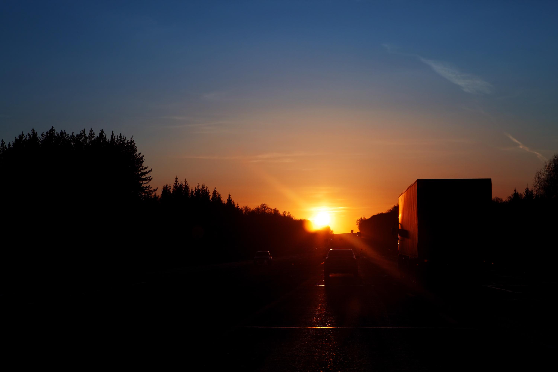 sunset road, Sunset, Sundown, Travel, Way, HQ Photo