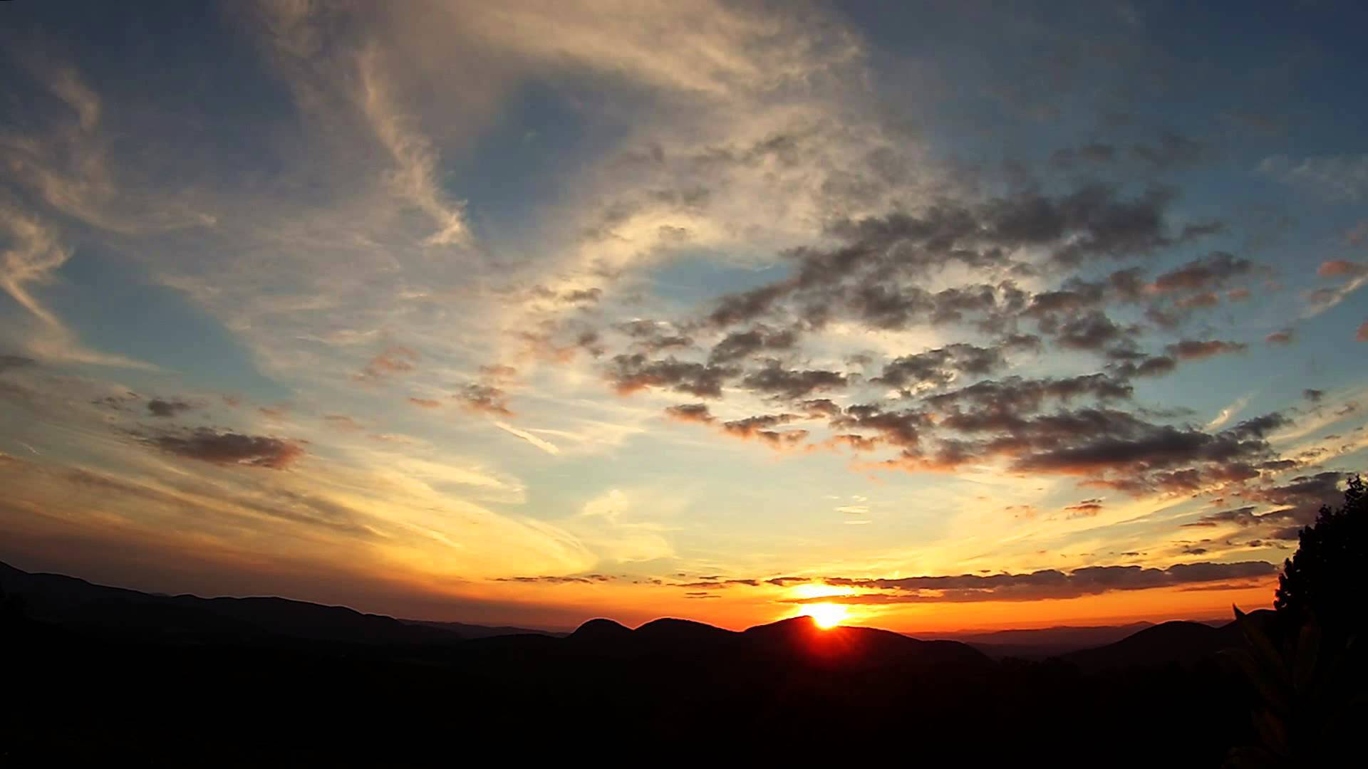 TIME LAPSE: Amazing HD Vermont Sunset, Sky and Clouds - YouTube
