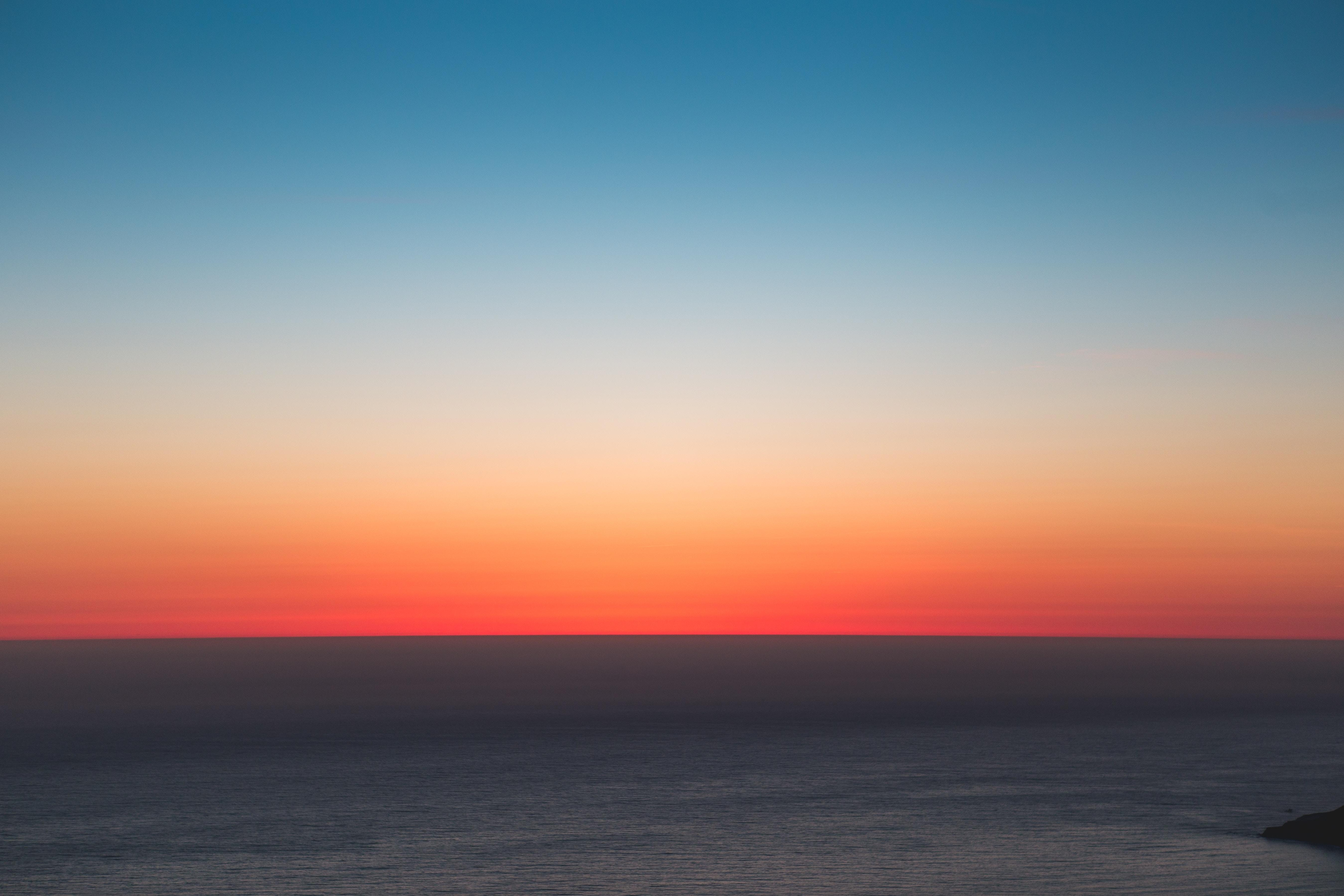 wallpaper horizon, sea, sunset, sky HD : Widescreen : High ...