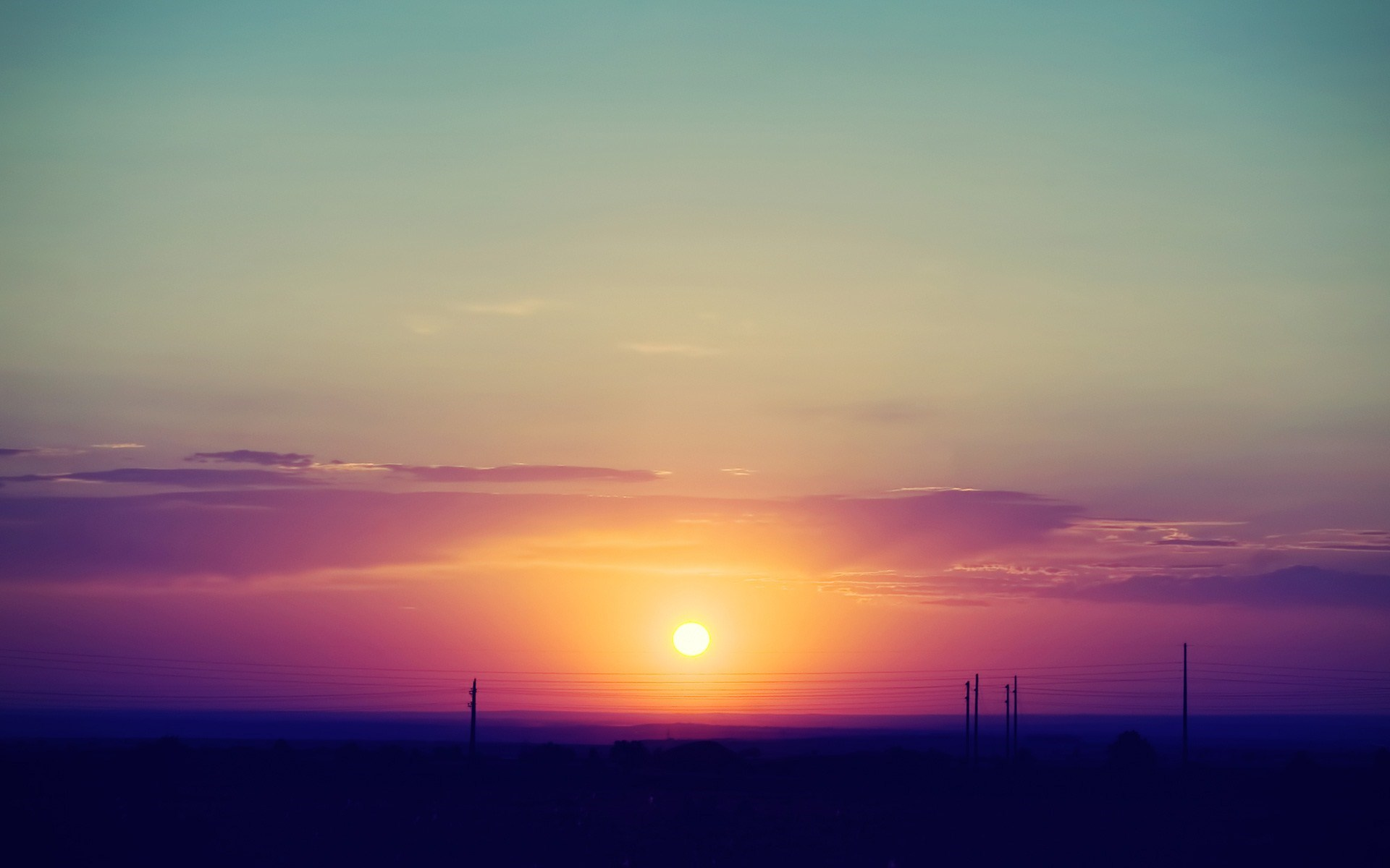 Sunset Sky Clouds Landscape Photo #7025703
