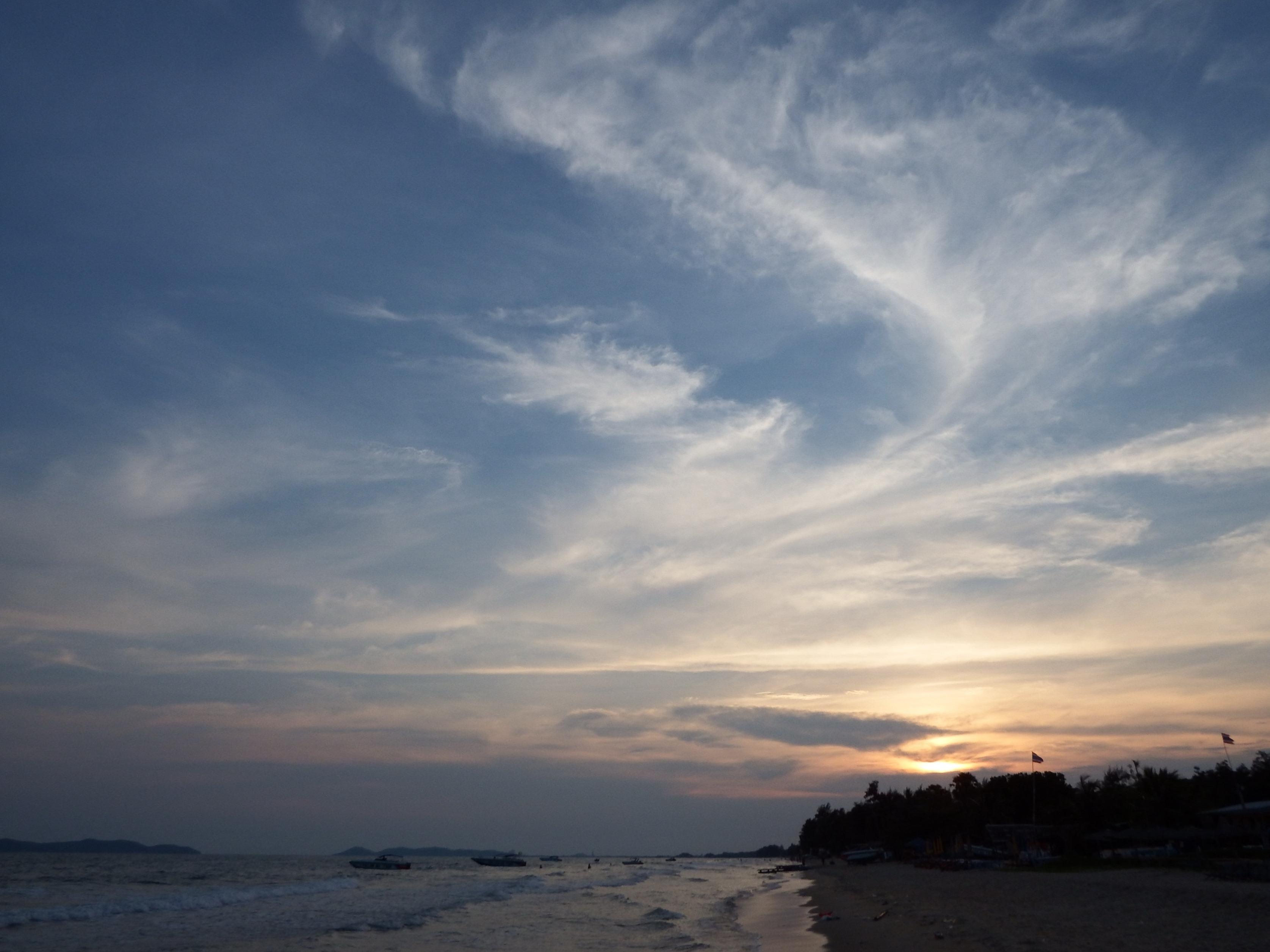 Sunset Sky, Beach, Sea, Tropical, Trees, HQ Photo