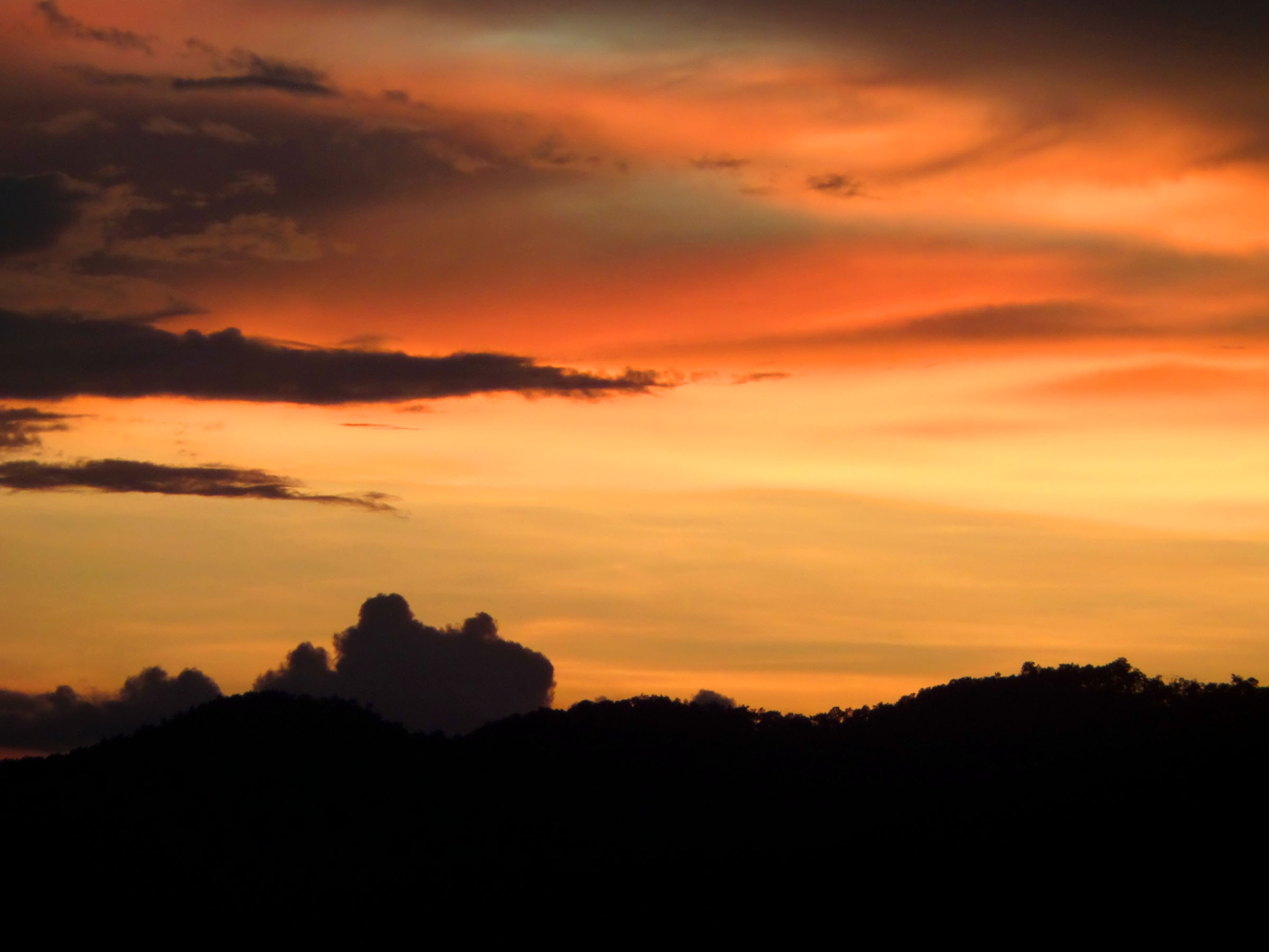 Sunset Sky, Dusk, Evening, Hue, Orange, HQ Photo