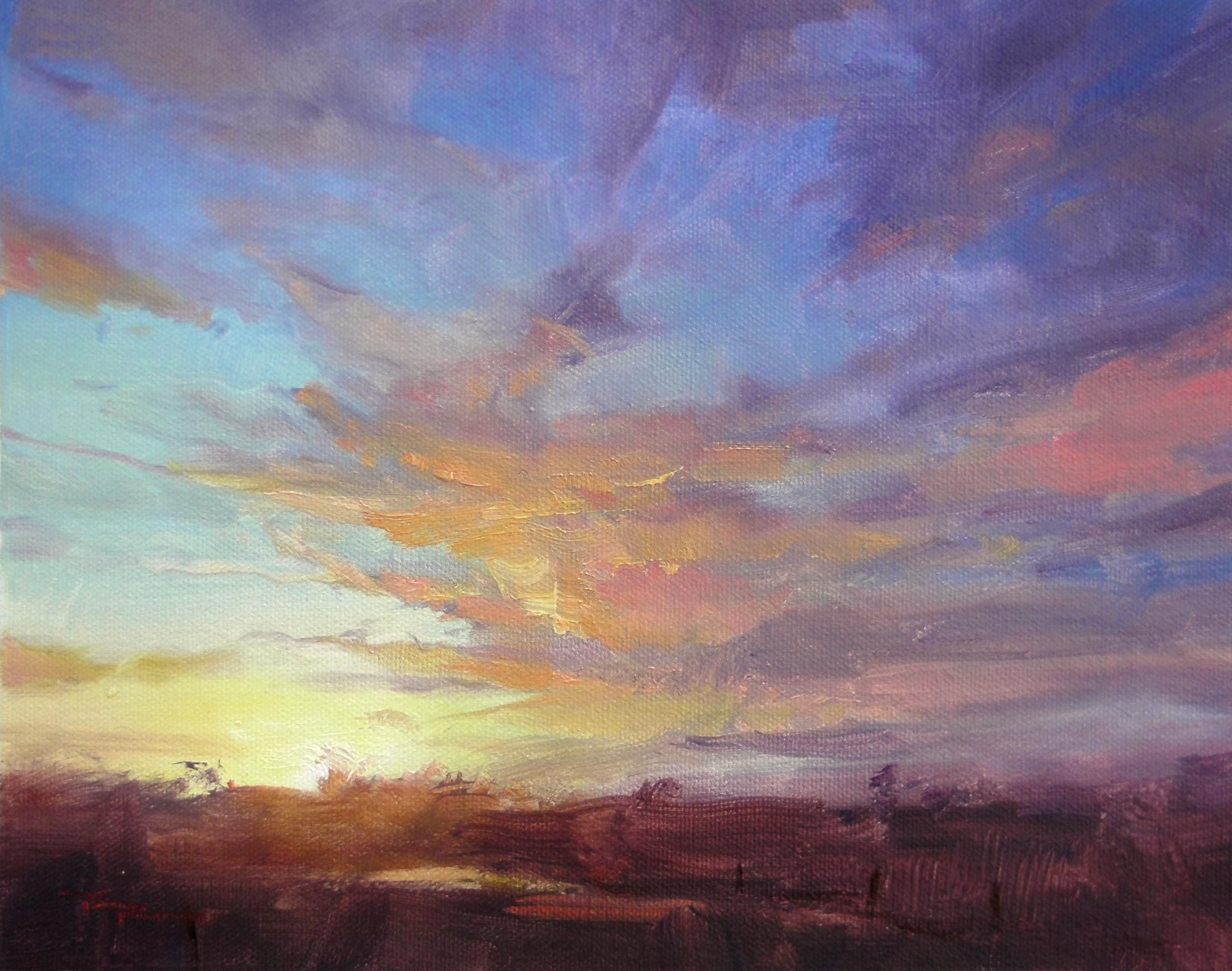 Online Painting Workshop 25 : Mastering Sunsets 1 of 4.