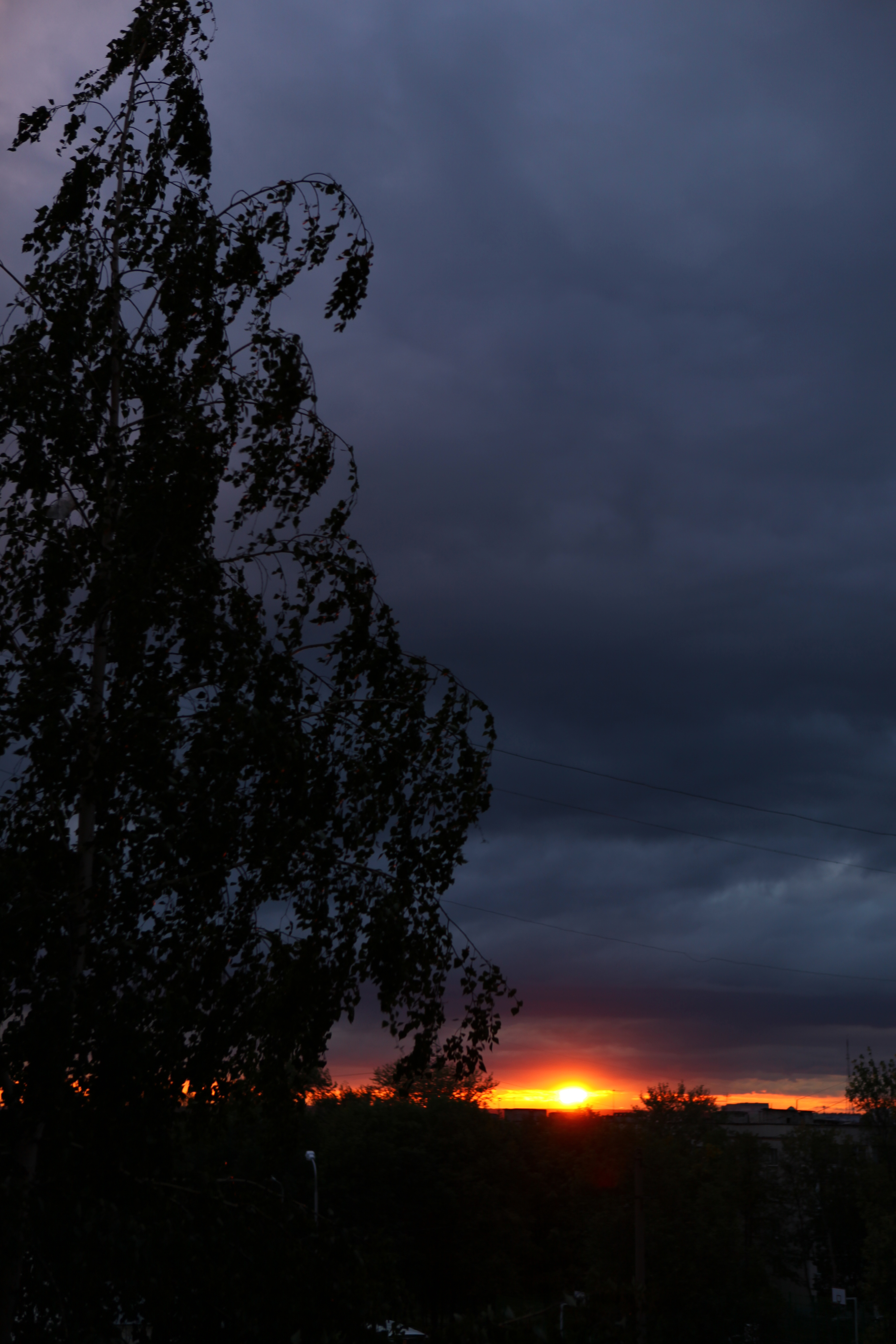 Sunset sky., Yellow, Remote, View, Sunset, HQ Photo
