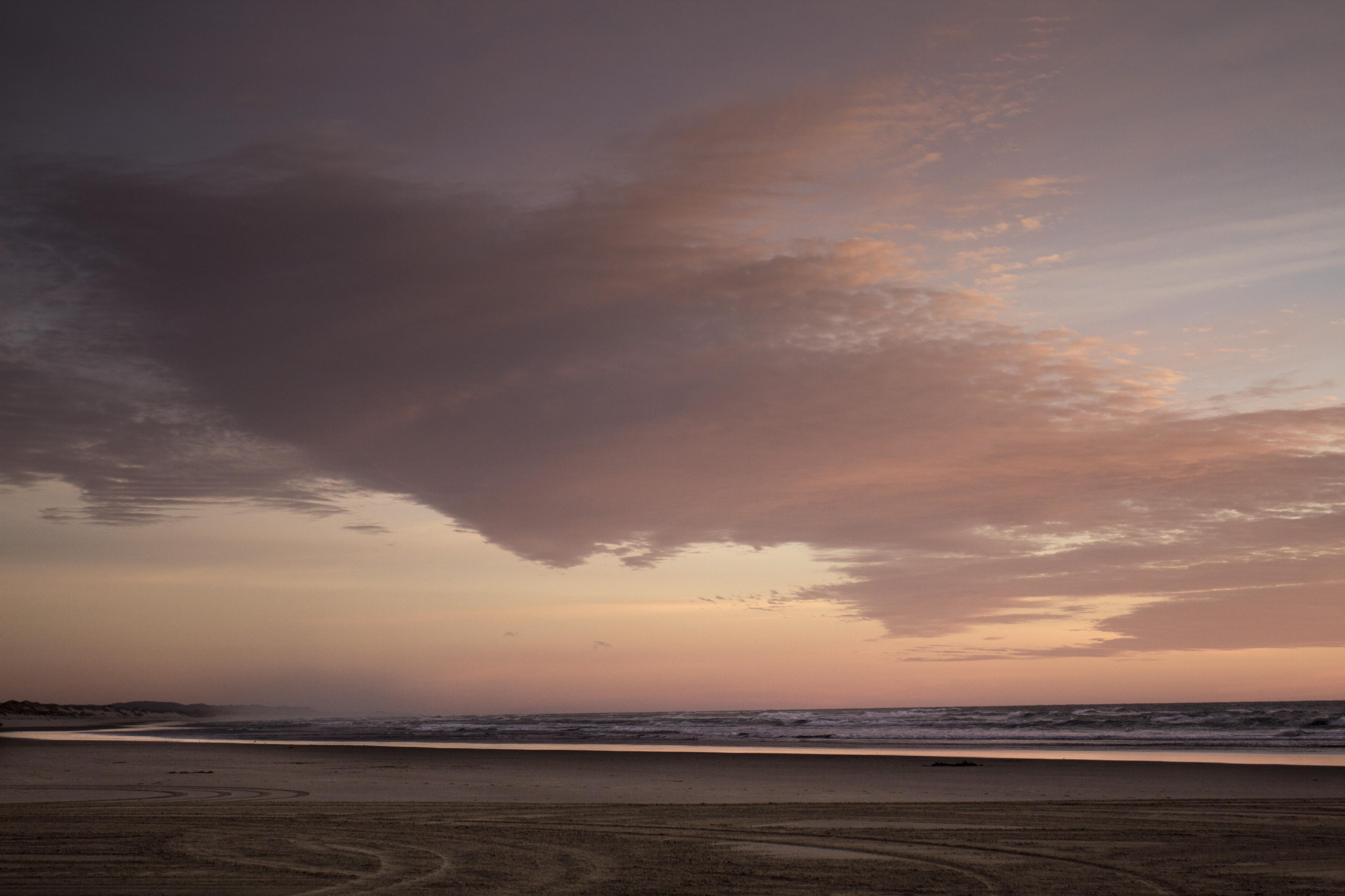 Sunset south jetty beach, oregon photo