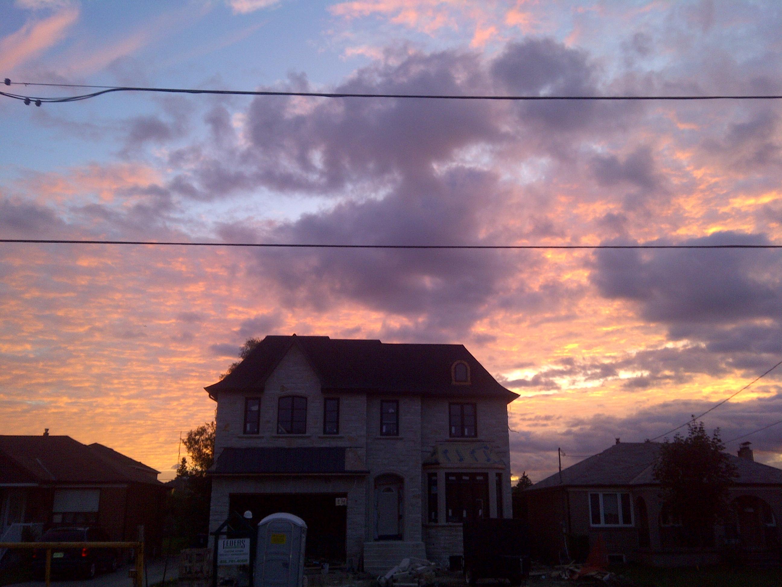 Sunset suburbs photo
