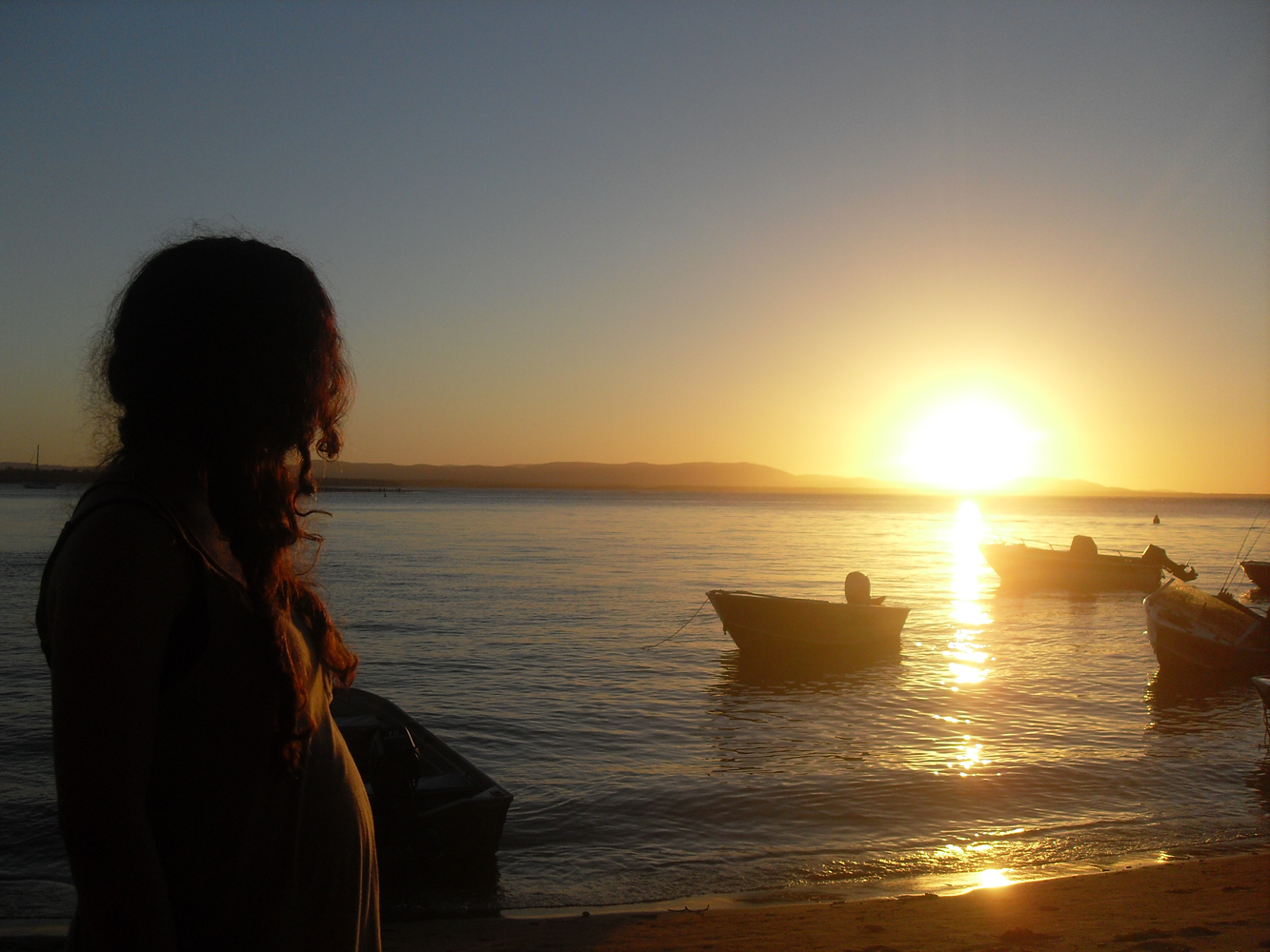 Sunsets and Boats, Beach, Boats, Girl, Nature, HQ Photo
