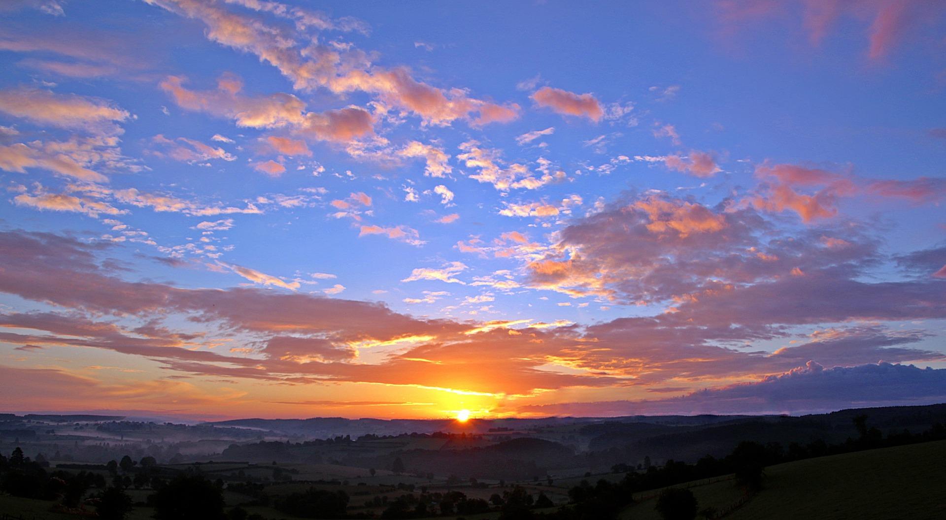Sunsrise, Setting, Sunrise, Sunset, Set, HQ Photo