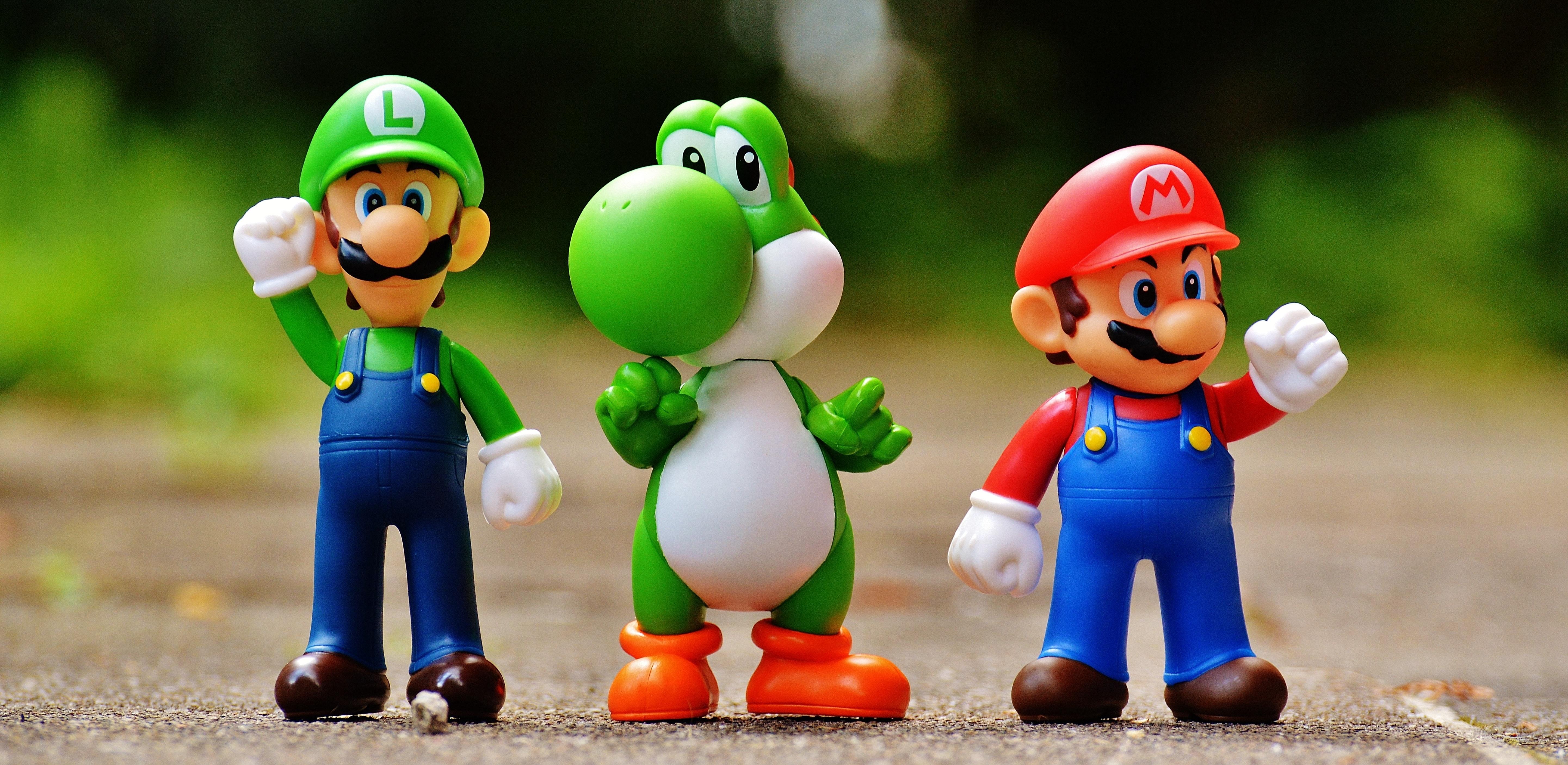 Super Mario Action Figure, Cartoon, Game, Super Mario, Road, HQ Photo