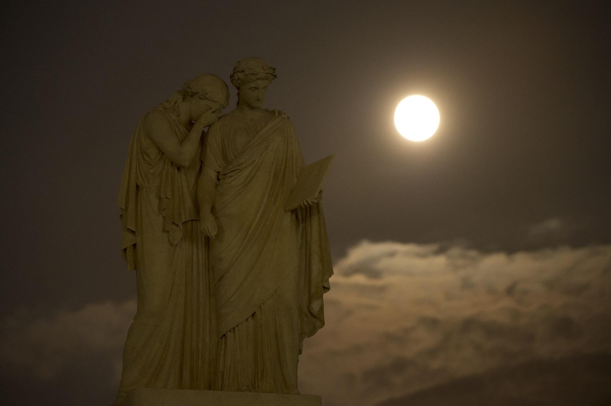 Super Moon, Sculpture, Statue, Super, Night, HQ Photo