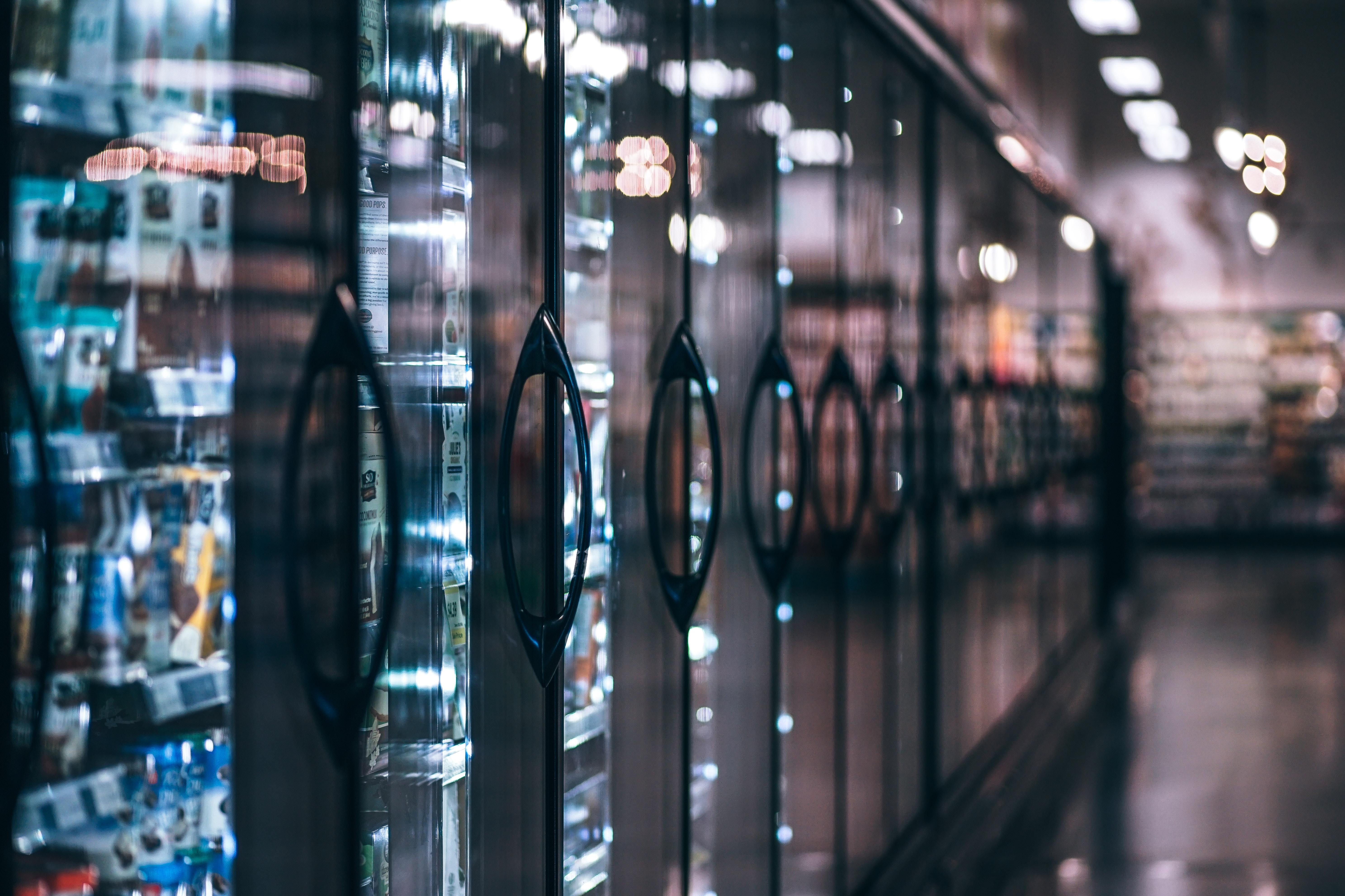 Supermarket refrigerators photo