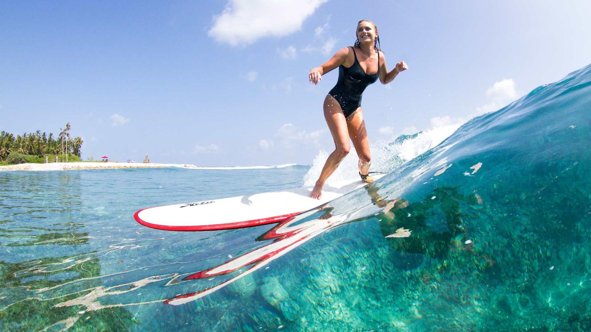 Surfer surfing photo