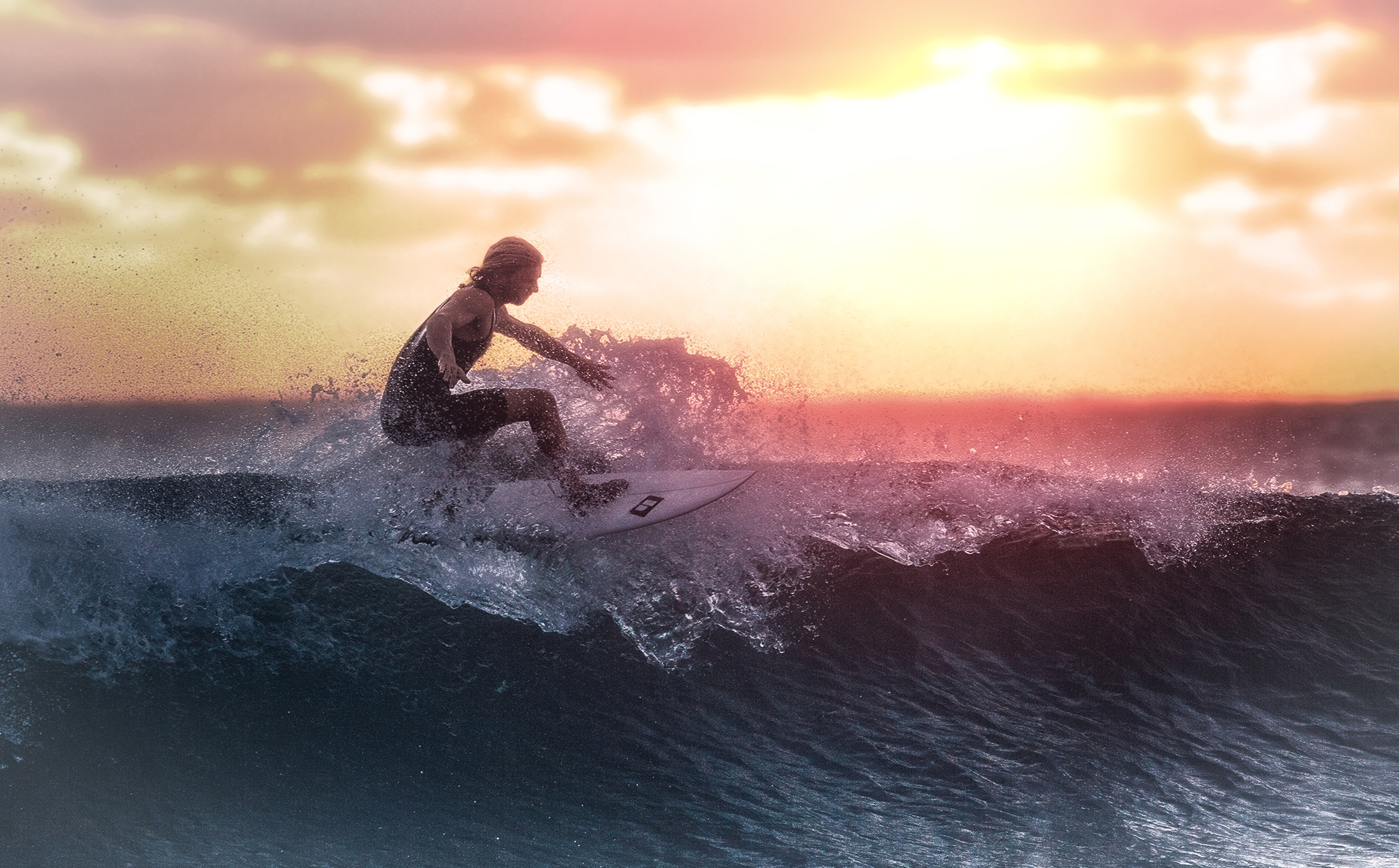Surfer at Sunset, Action, Summer, Power, Recreation, HQ Photo