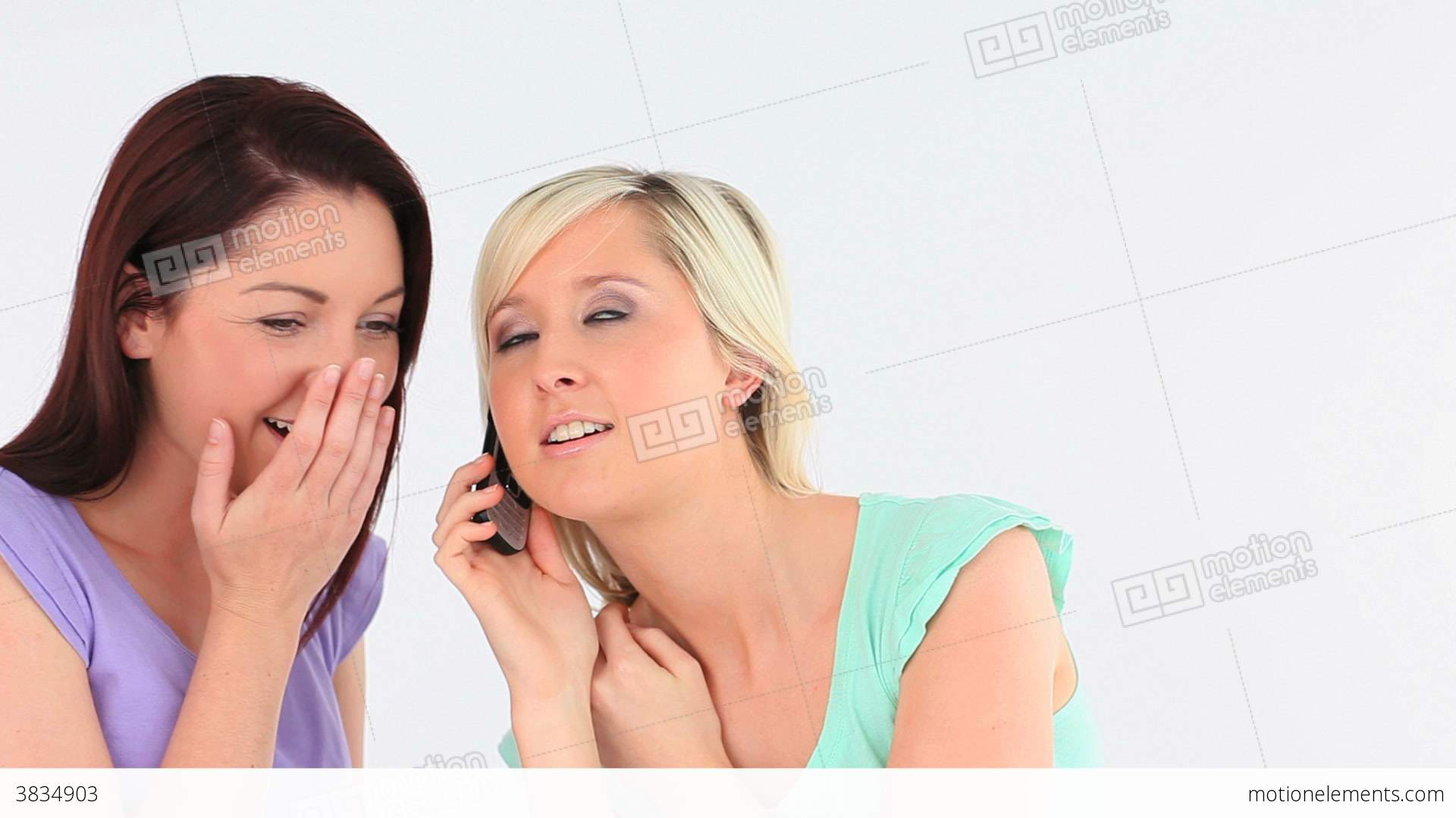 Surprised Women With A Phone Stock video footage | 3834903