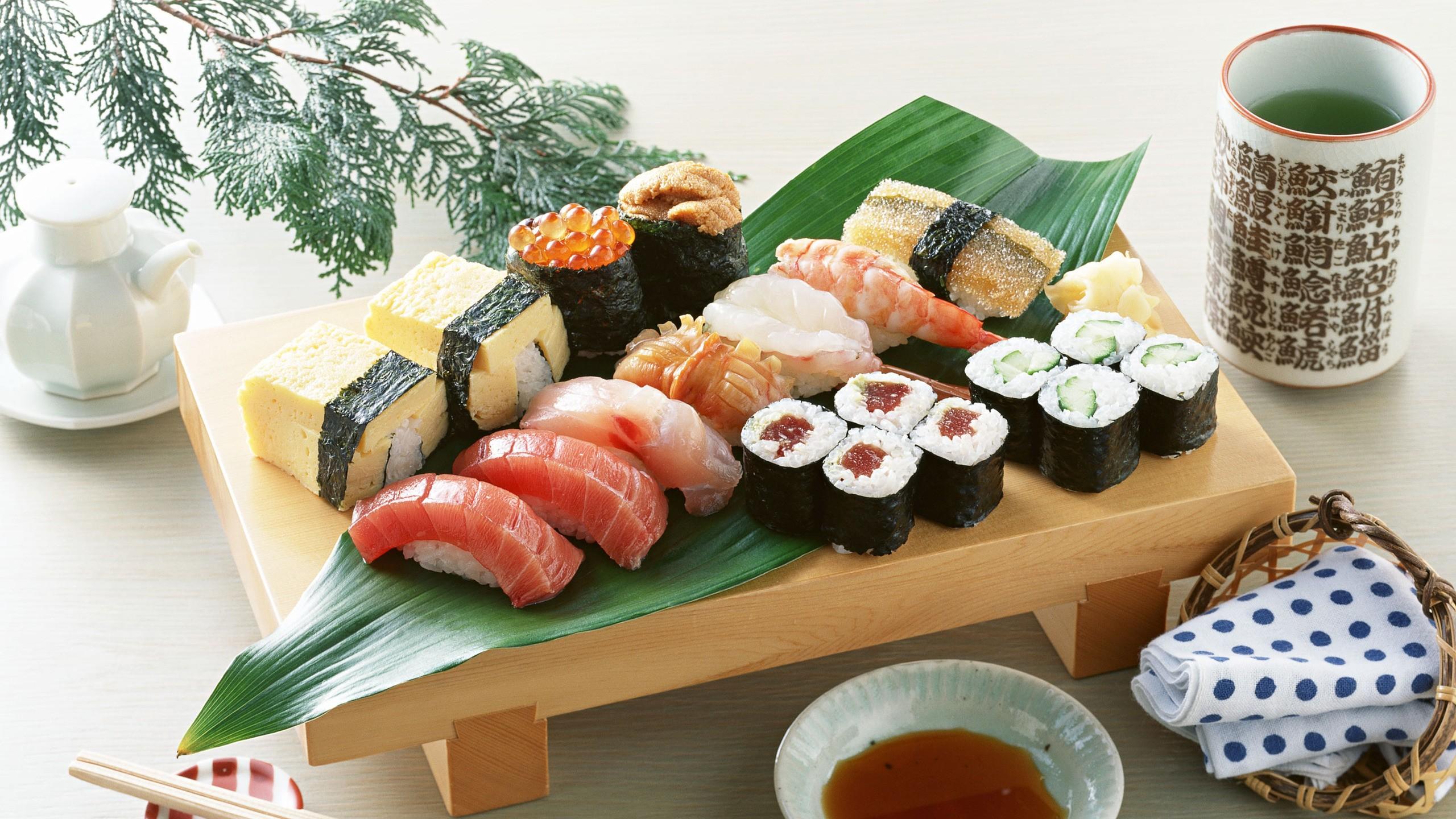 sushi, nigiri, caviar, Maki roll, meal :: Wallpapers
