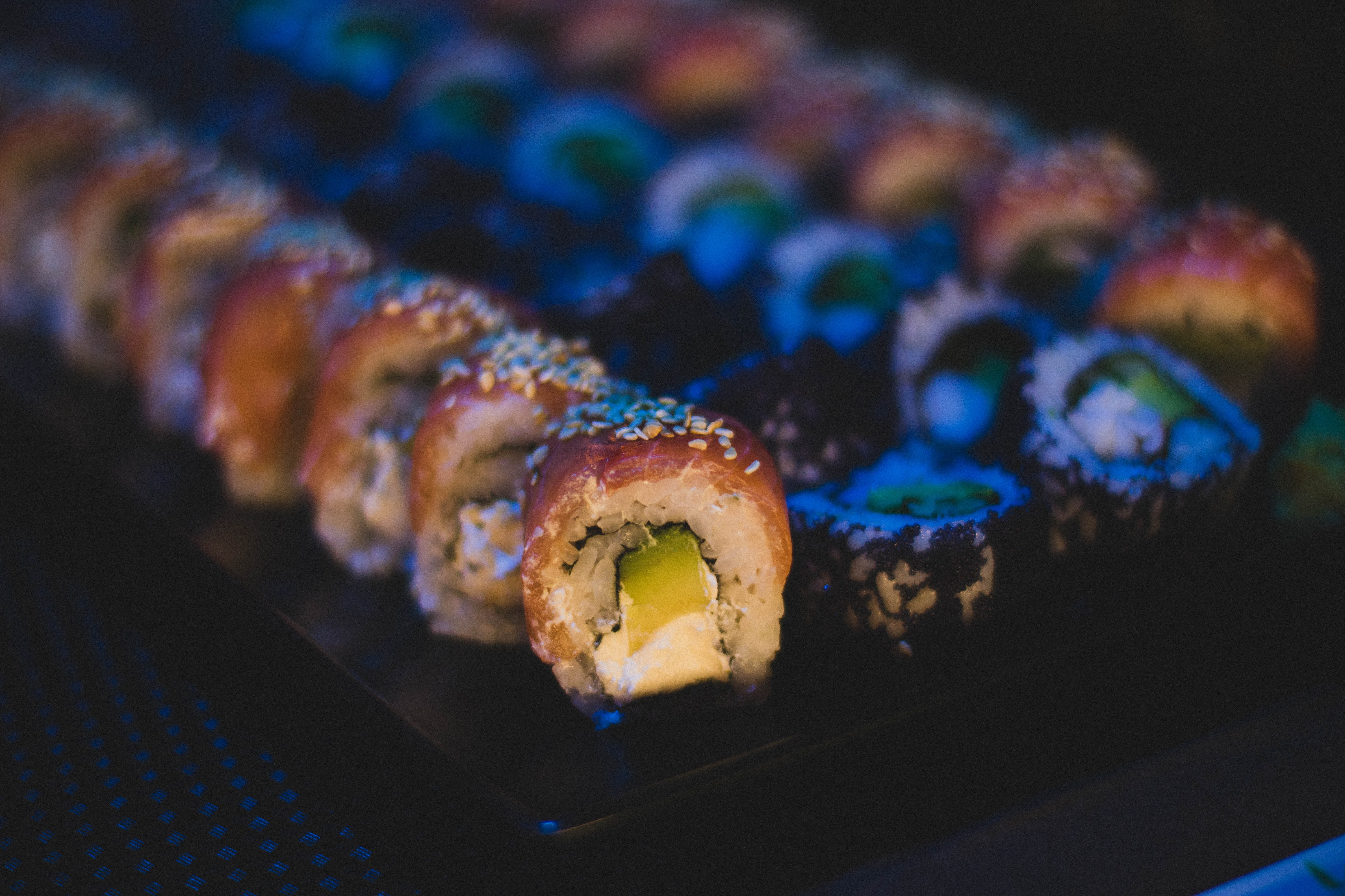 Sushi Dish, Blur, Meal, Tasty, Table, HQ Photo