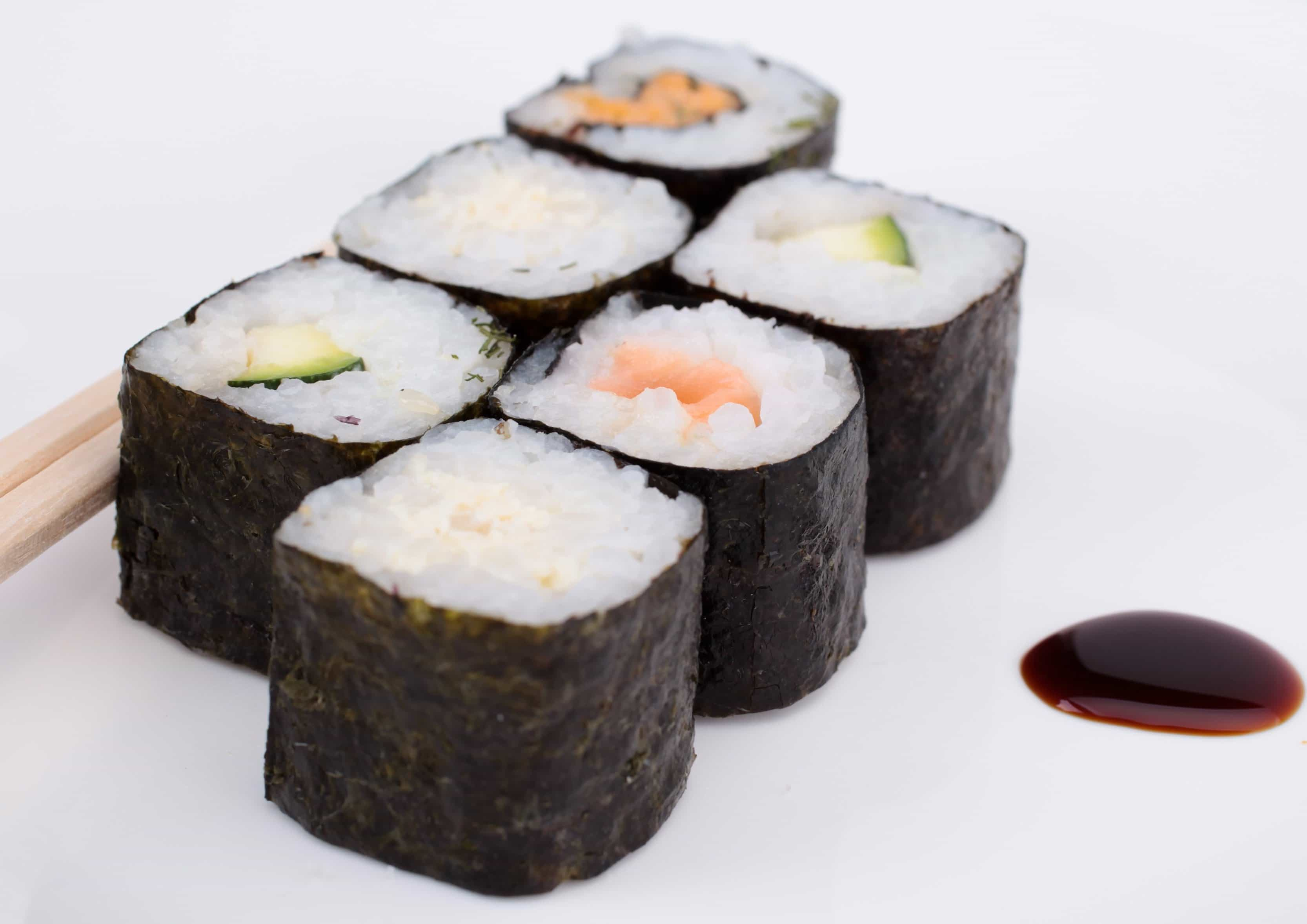 Free picture: rice, seafood, food, sushi, dish, meal, japan, fish