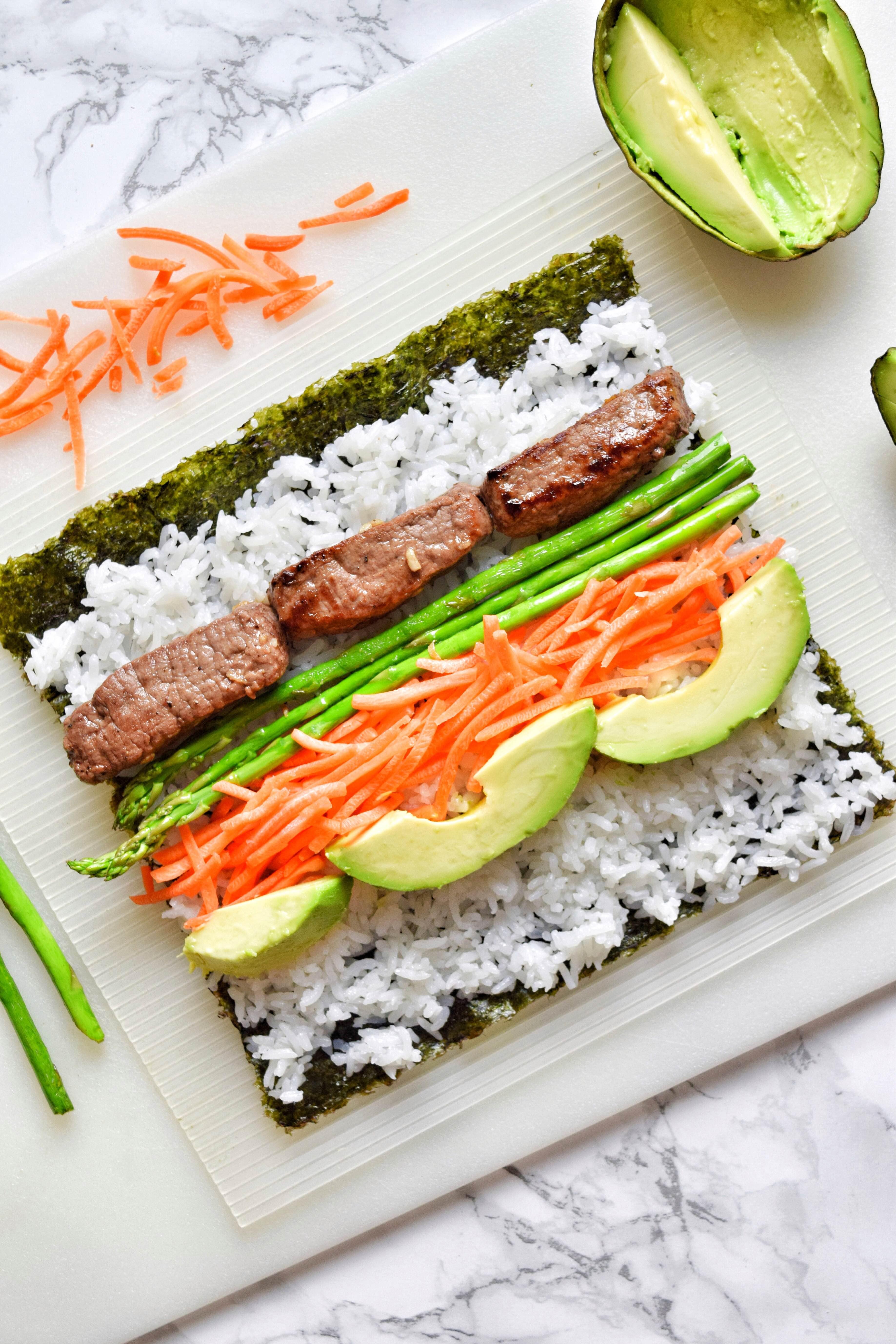 Filet Mignon DIY Sushi Roll