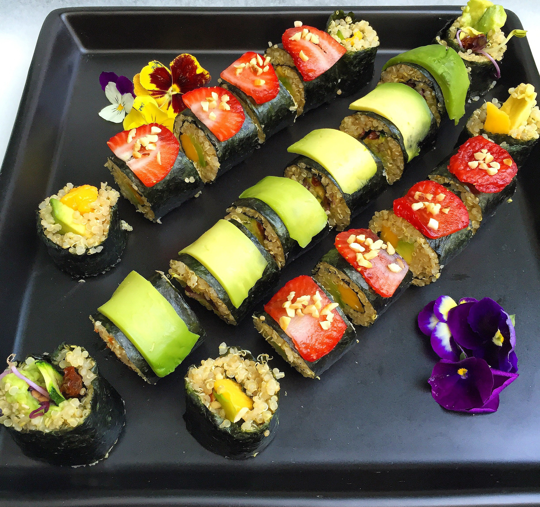 Mediterranean Quinoa Sushi Rolls (Vegan) - Further Food